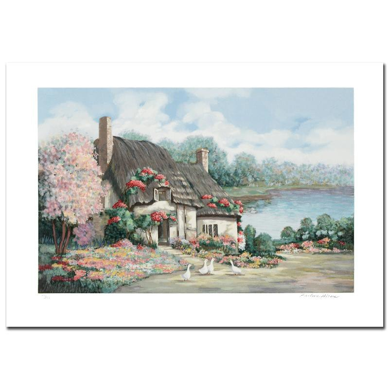 """Earlene Moses Signed Limited Edition Serigraph """"Sussex I"""""""