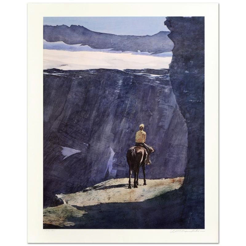 """William Nelson Signed Limited Edition Serigraph """"Blue Canyon"""""""