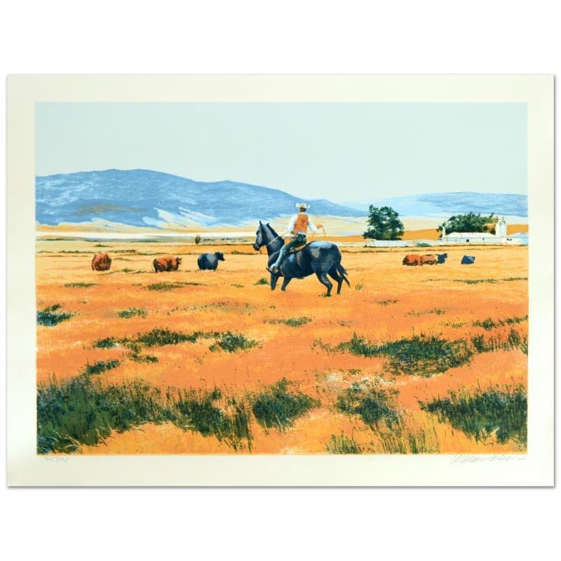 """William Nelson Signed Limited Serigraph """"Down From the High Country"""""""