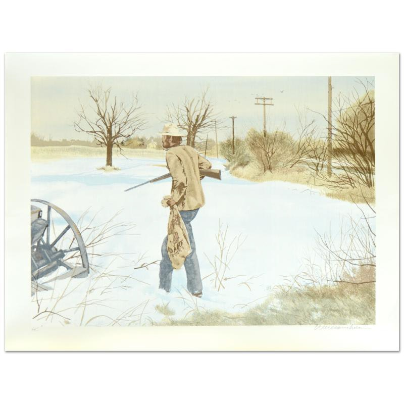 """William Nelson Signed Limited Edition Serigraph """"The Trespasser"""""""