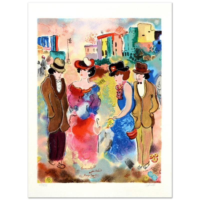 """Zule Signed Limited Edition Serigraph """"Two Couples"""""""