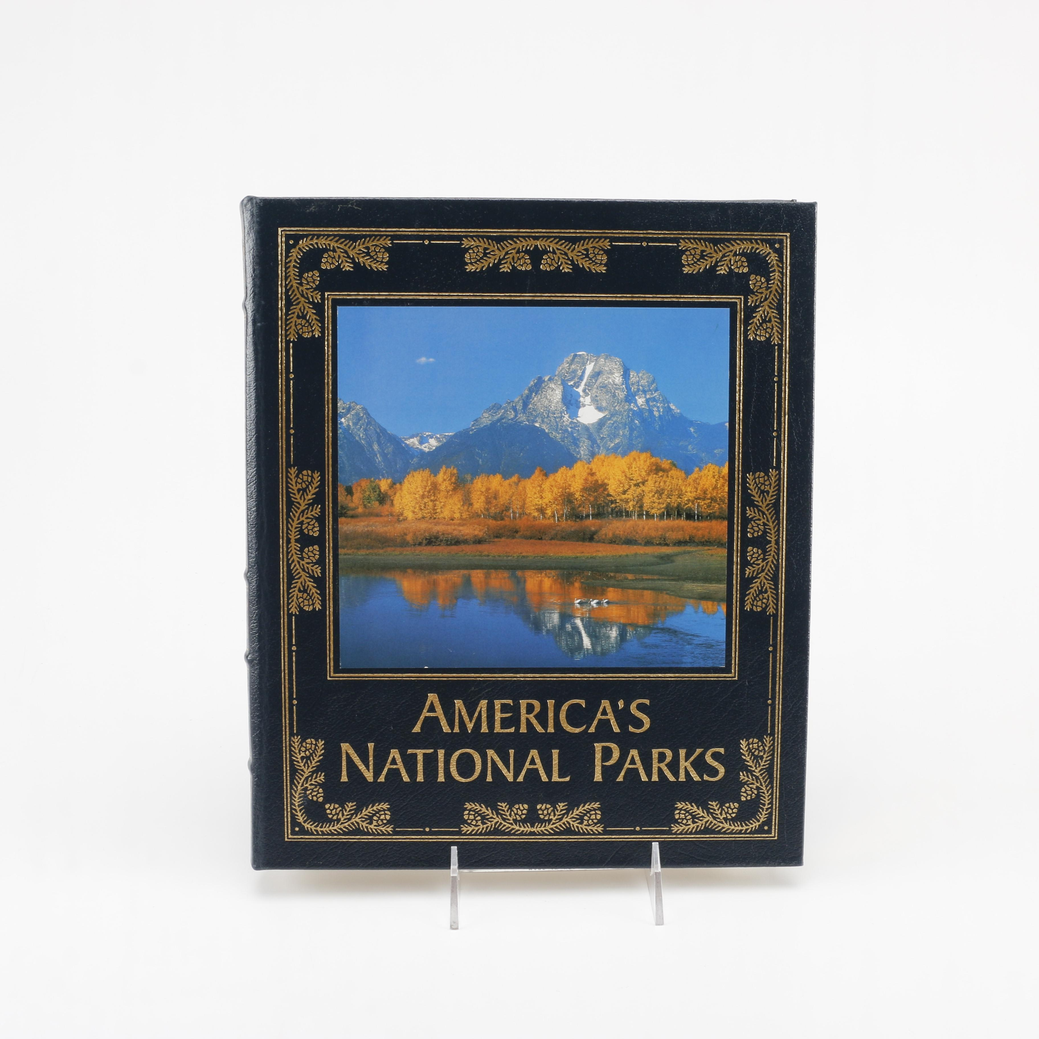 """Easton Press Leatherbound Editions of """"The American Revolution"""" and """"America's National Parks"""""""