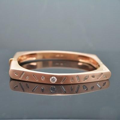 Raul Haas 14K Rose Gold 0.92 CTW Diamond Bracelet