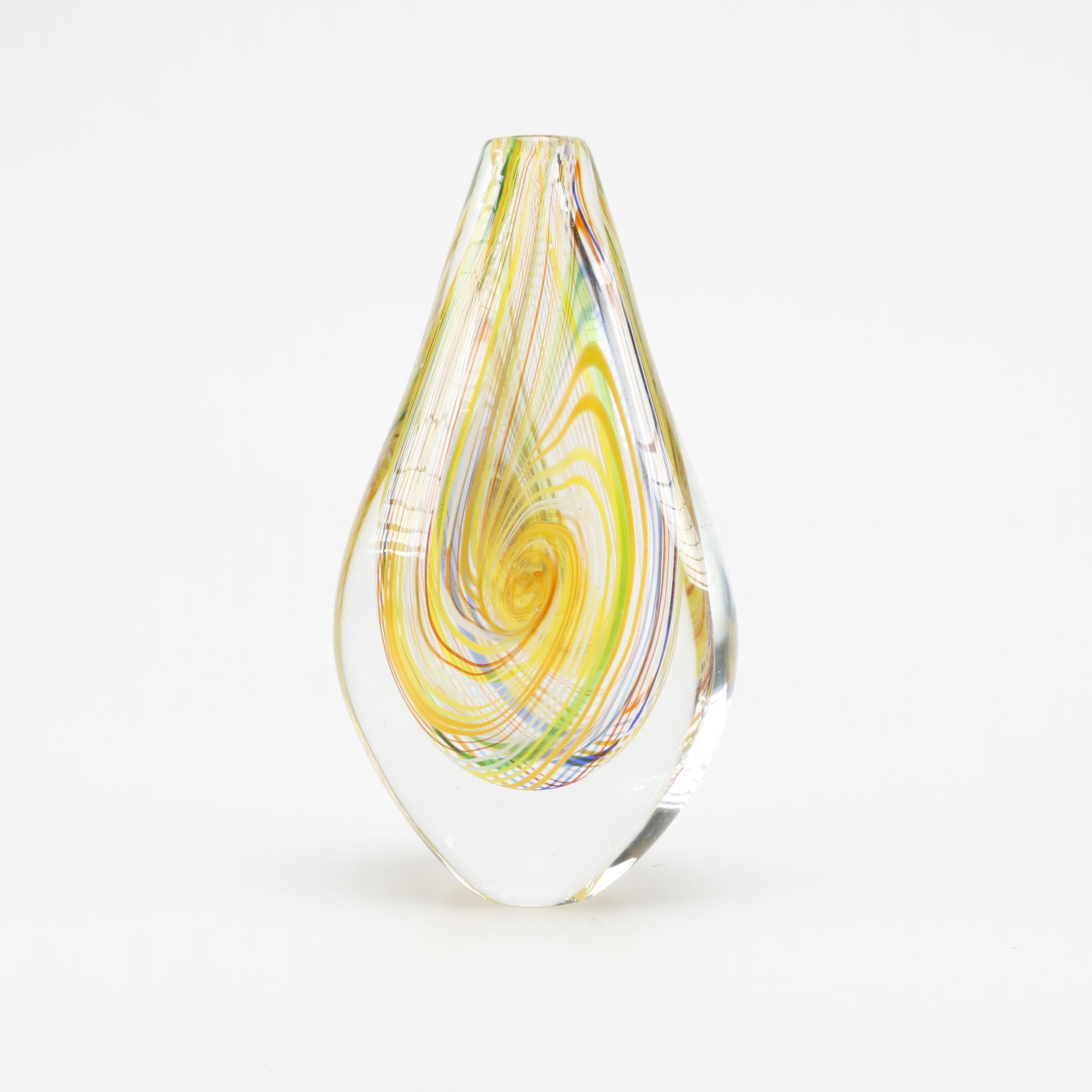 Hand-Blown Glass Vase