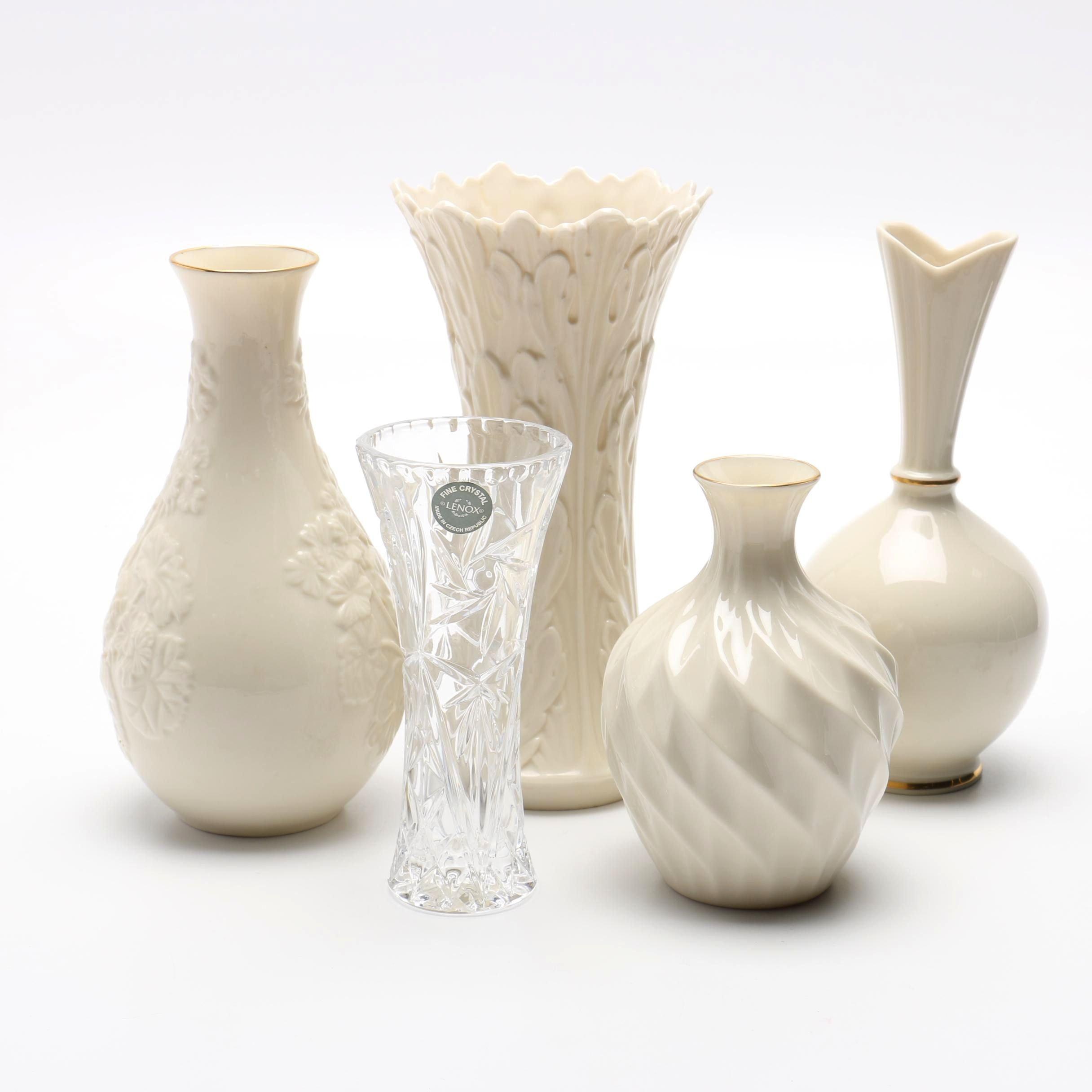 Lenox Porcelain and Crystal Vases