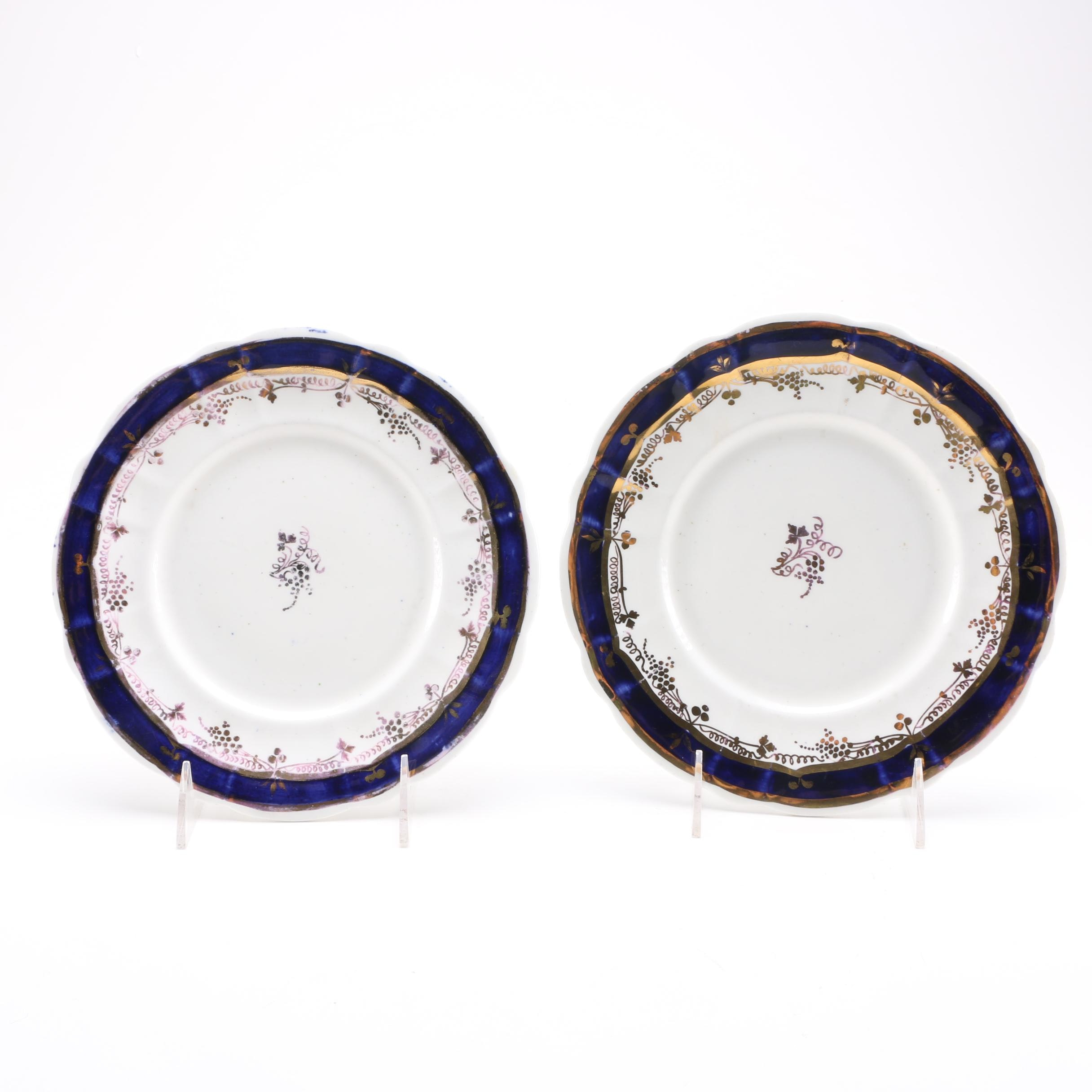 Pair of Antique Porcelain Plates