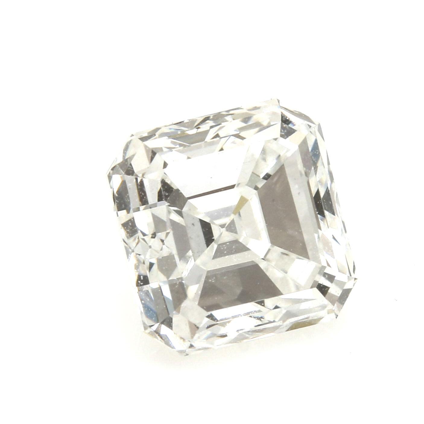 Loose 1.54 CTS Asscher Cut Corner Square Step Cut Diamond