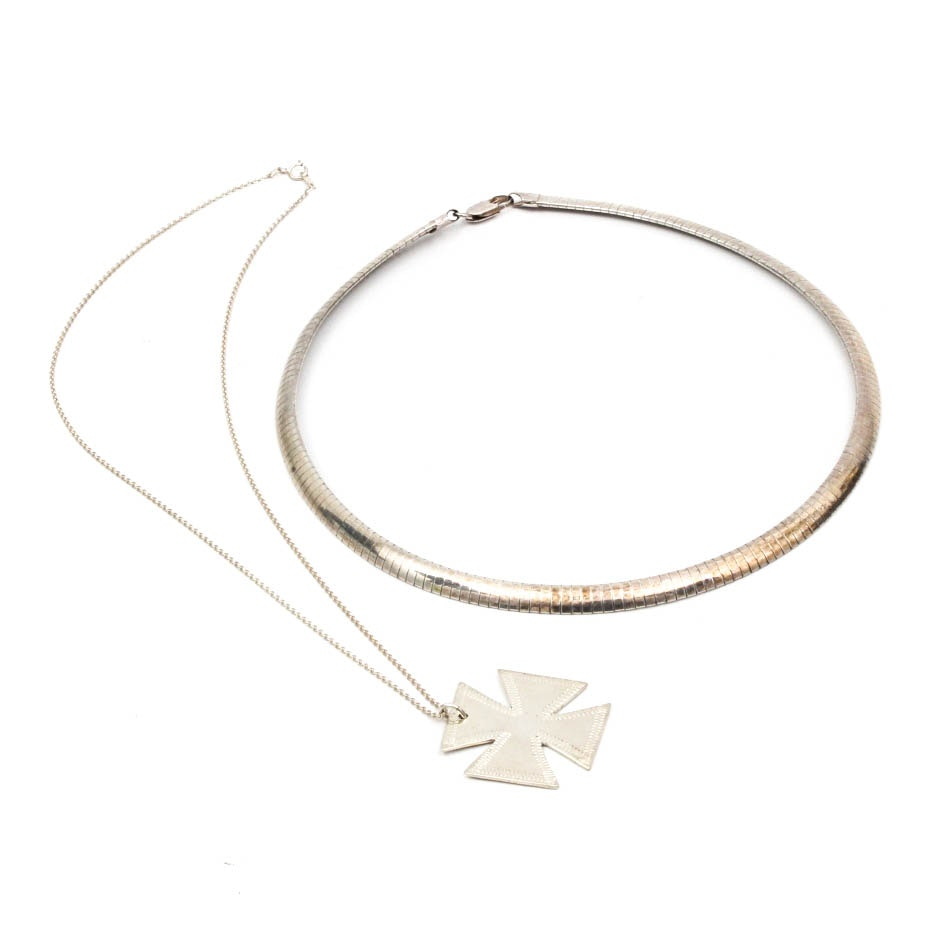 Sterling Silver Necklace Pairing