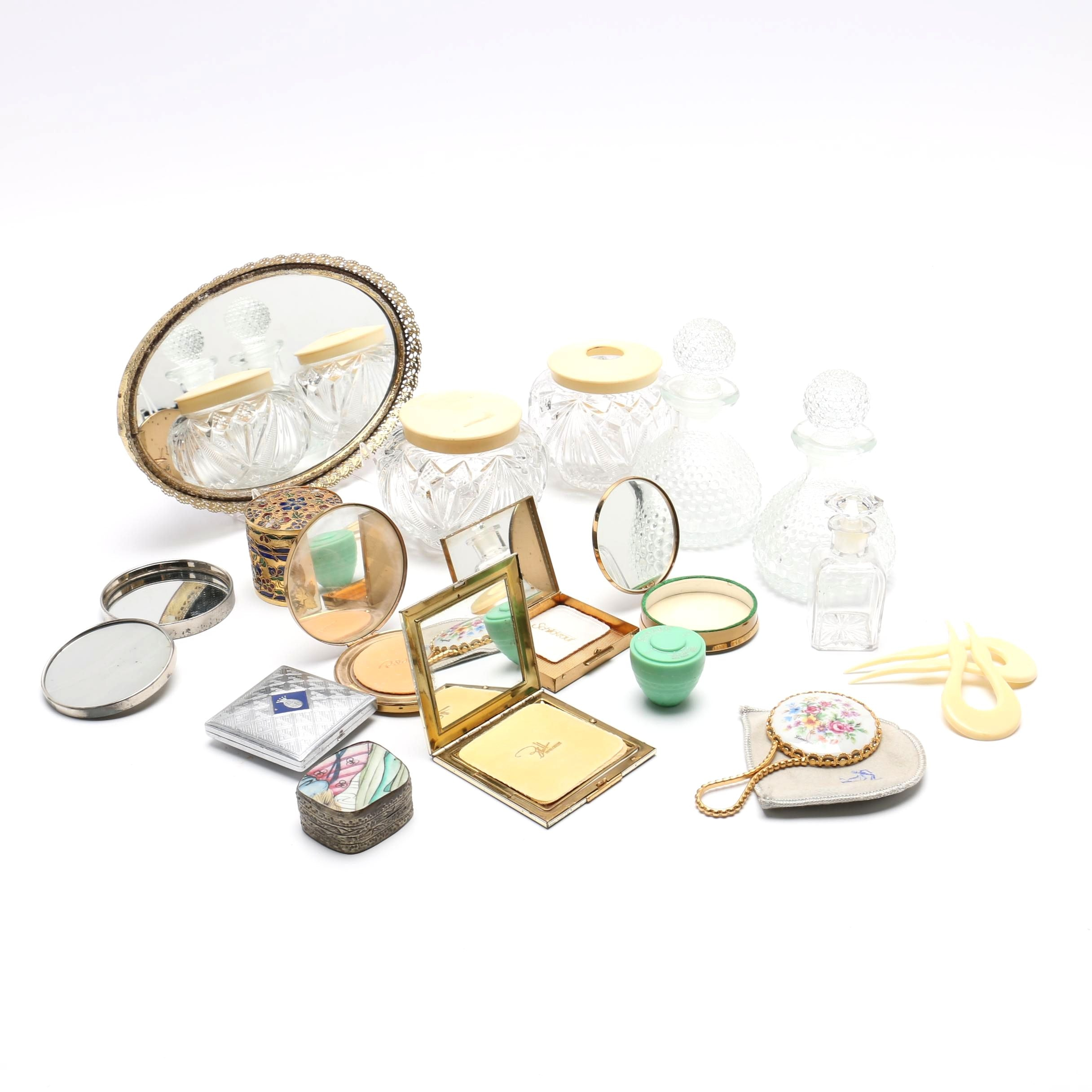 Compacts and Other Vanity Table Items