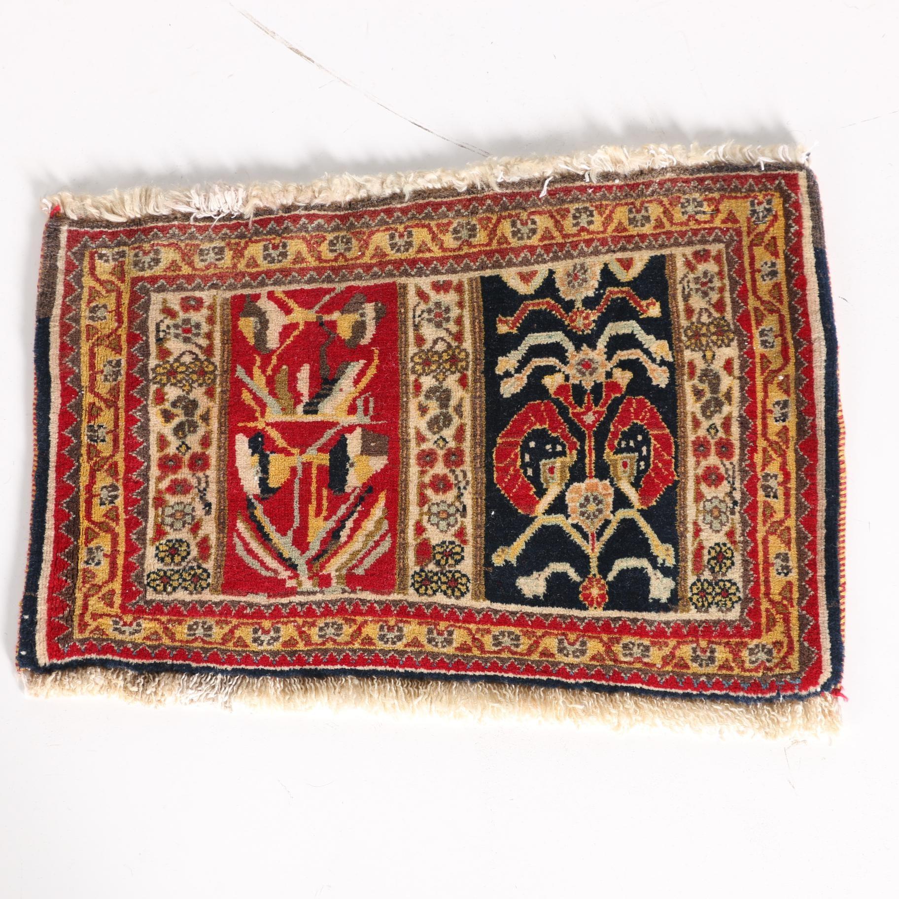 Hand-Knotted Persian Bakhtiari Style Mat