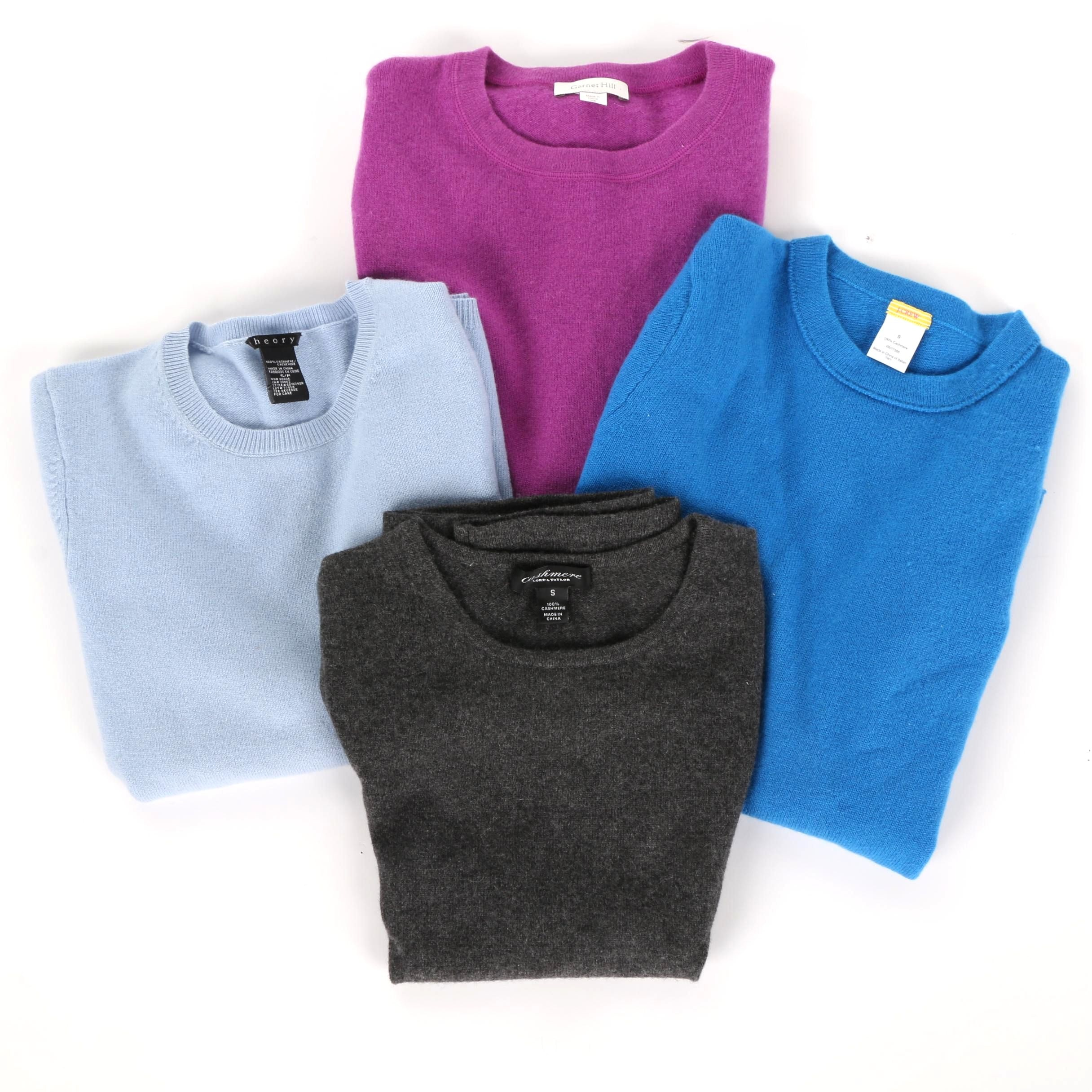 Cashmere Tops Including J. Crew and Theory