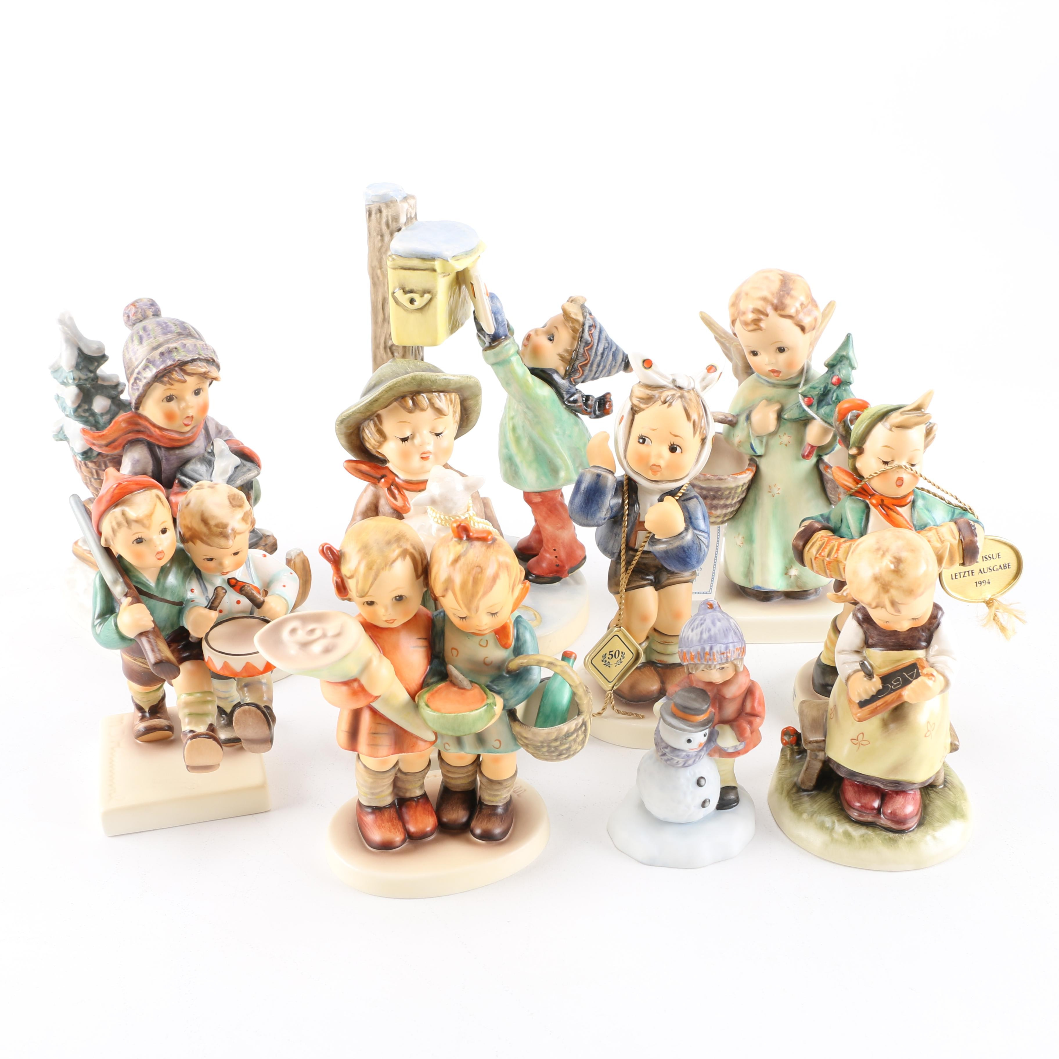 Goebel Hummel Figurines Including Christmas Themes and Final Issues