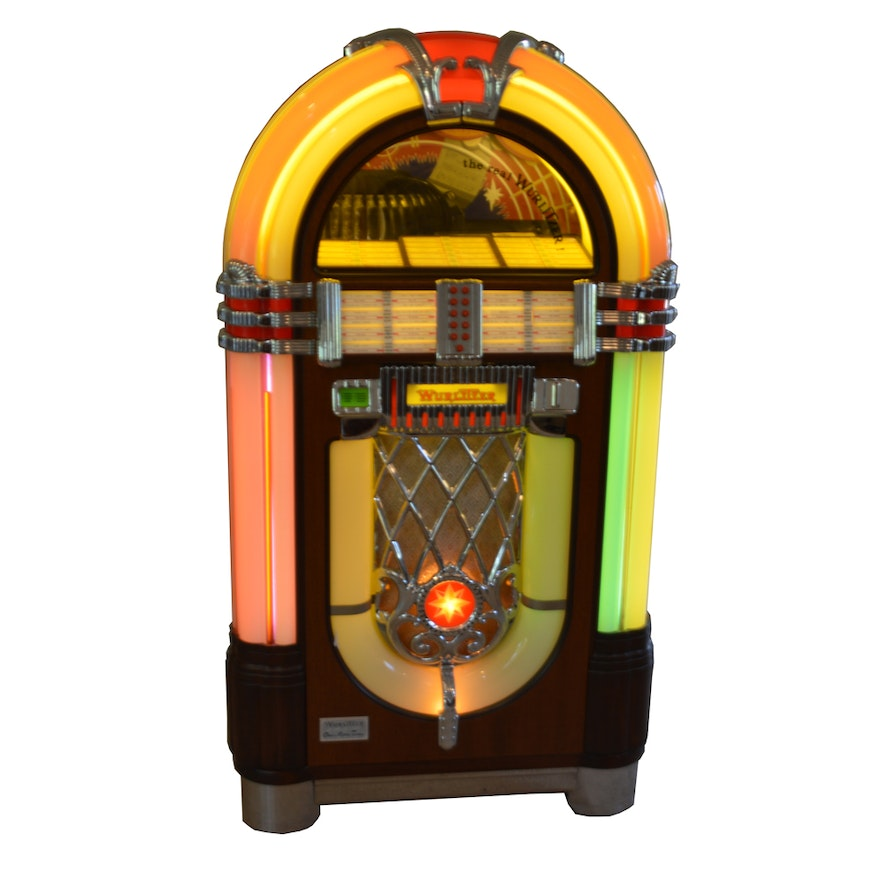 wurlitzer one more time model 1015 replica jukebox ebth. Black Bedroom Furniture Sets. Home Design Ideas
