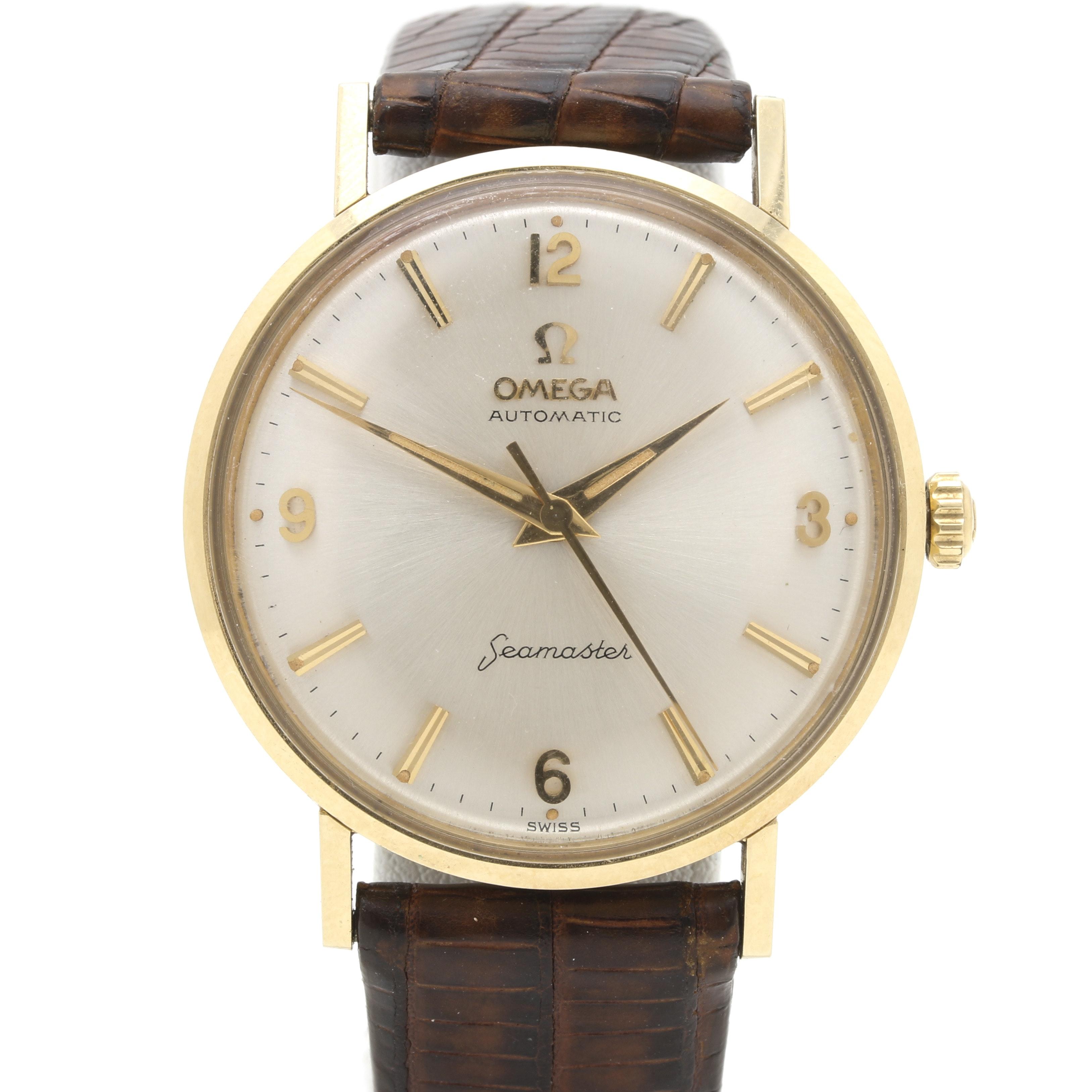 """Omega 14K Yellow Gold """"Seamaster"""" Automatic Wristwatch"""