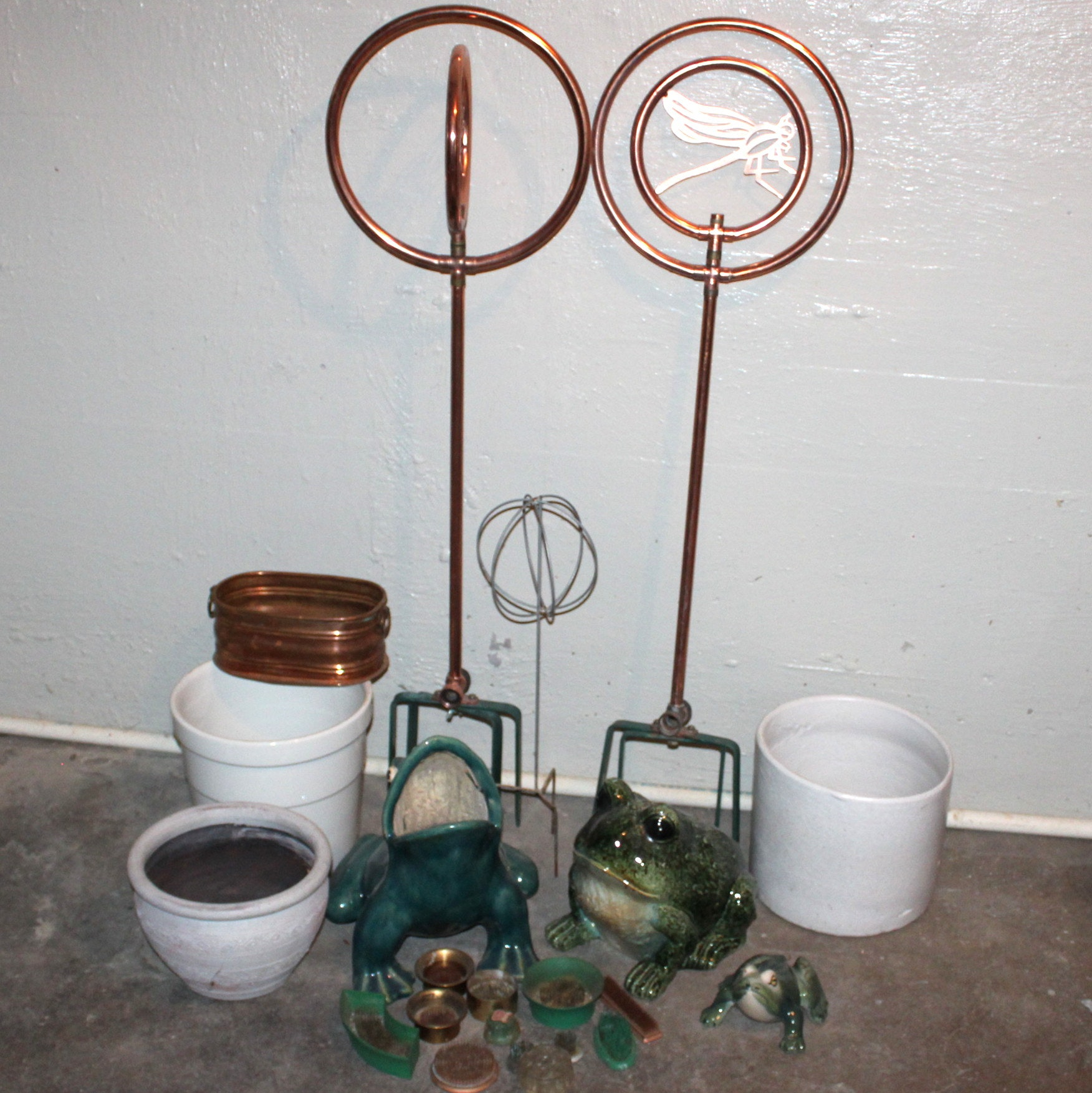 Selection of Vintage and Other Garden Decor
