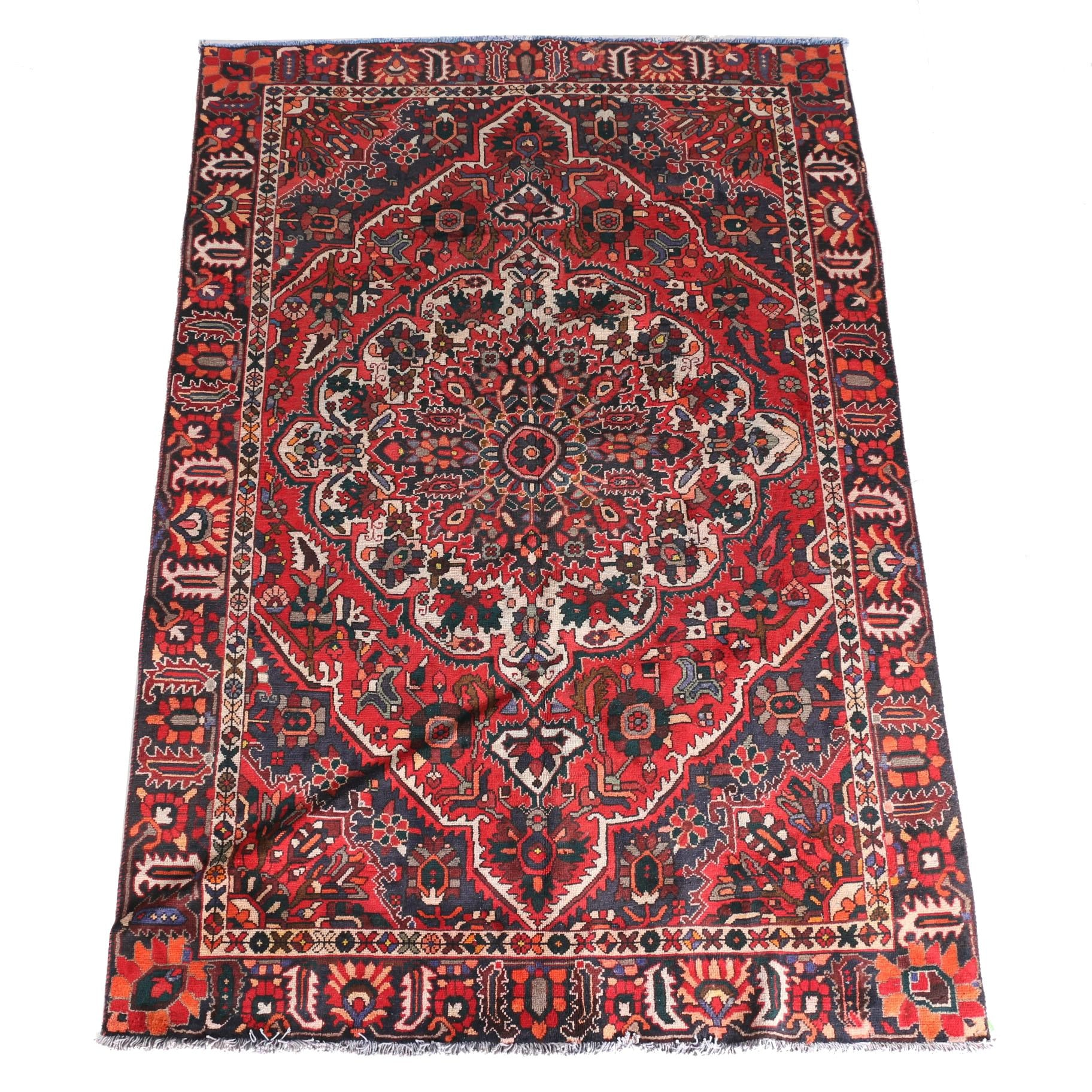 Hand-Knotted Persian Kerman Style Area Rug