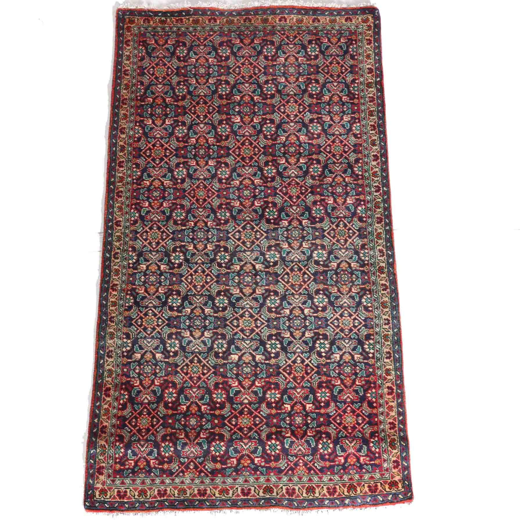Hand-Knotted Persian Qashqai Area Rug
