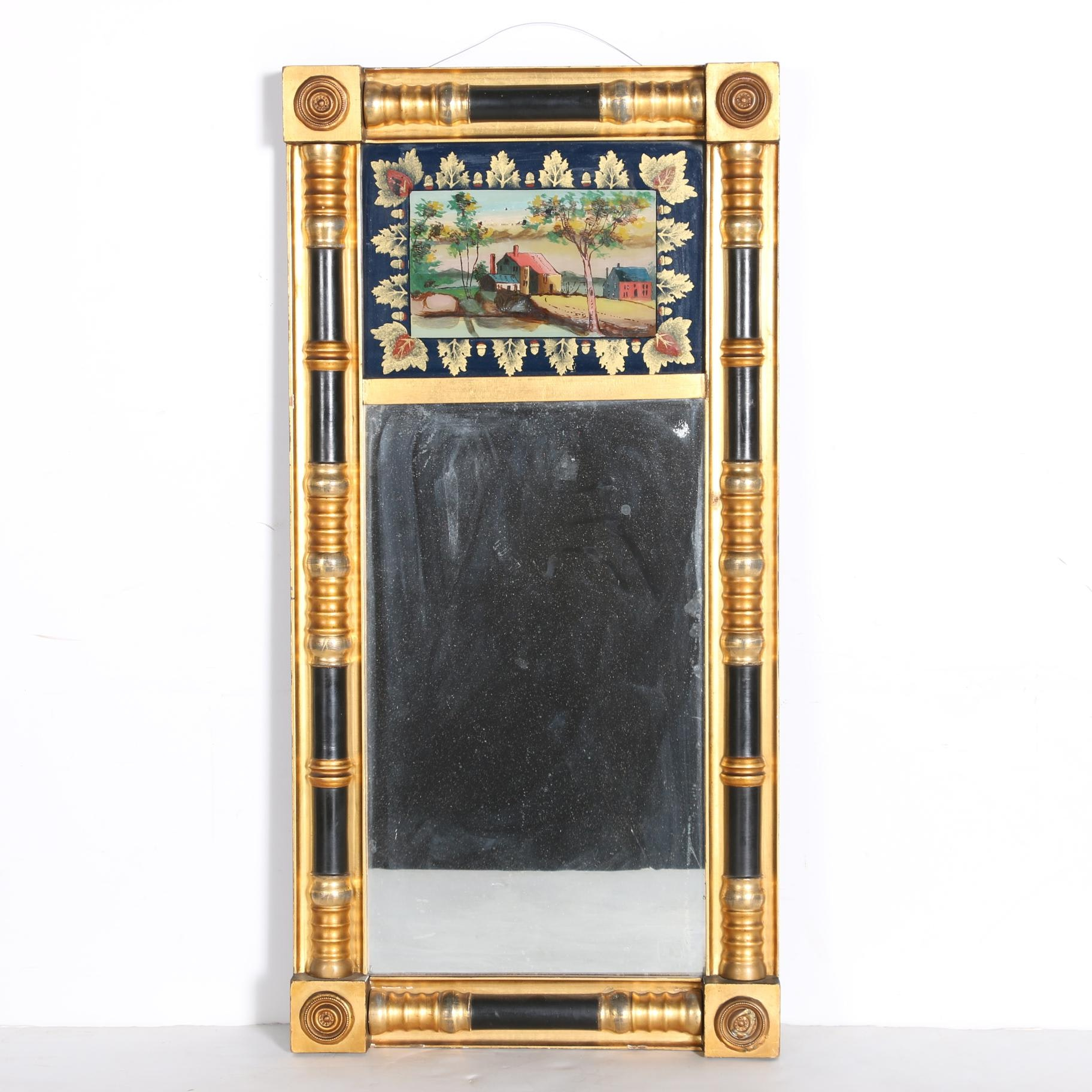 19th Century Split Baluster Tabernacle Mirror