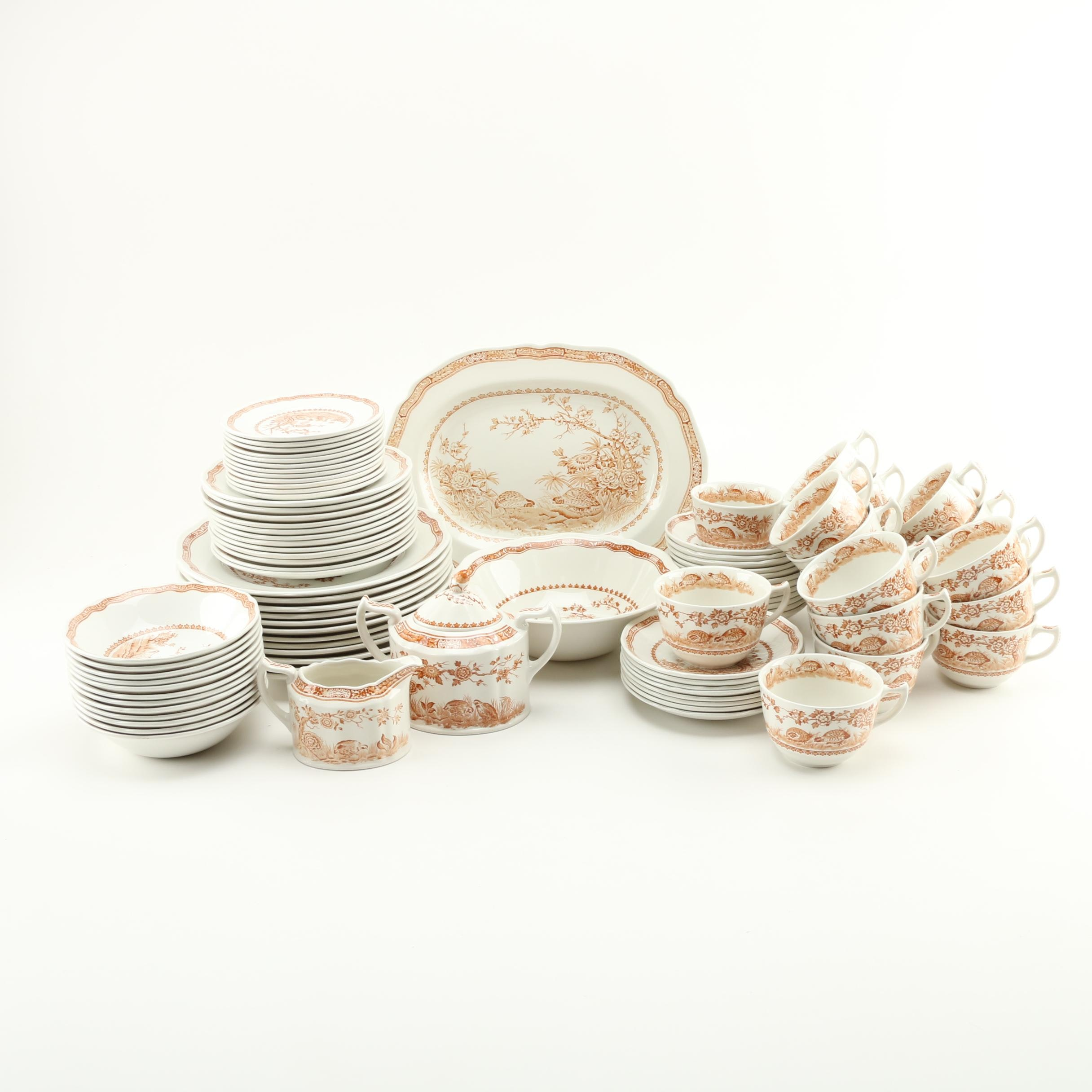 "Furnivals ""Quail"" China Set"