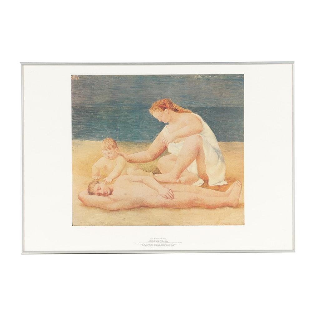 """After Picasso Limited Edition Offset Lithograph """"Famille au bord de la mer"""""""