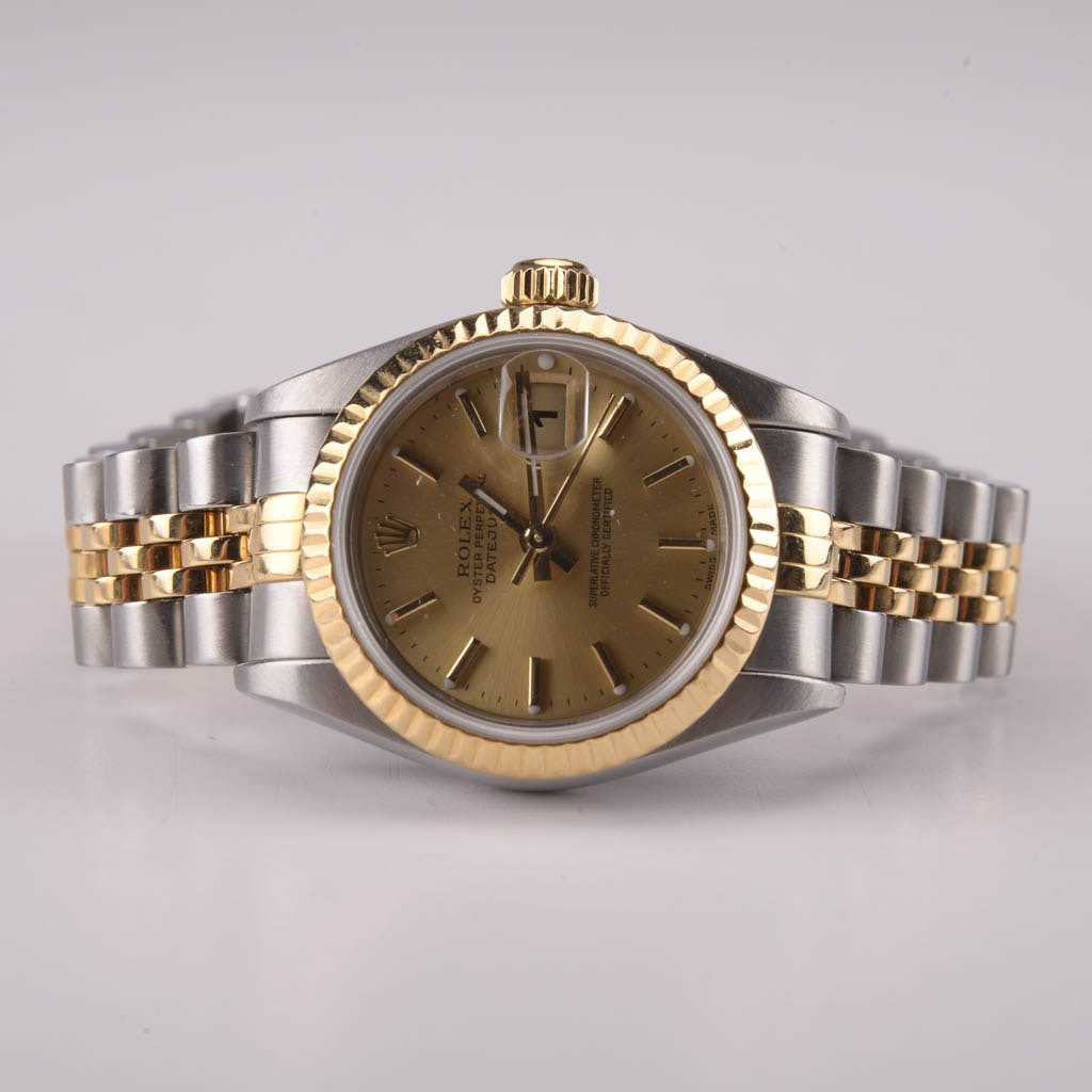 Rolex Oyster Perpetual Datejust Stainless Steel and 18K Gold Wristwatch