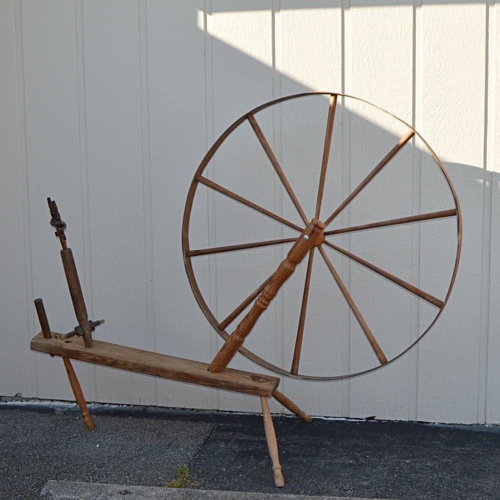 Antique Spinning Wheel by Benjamin Pierce