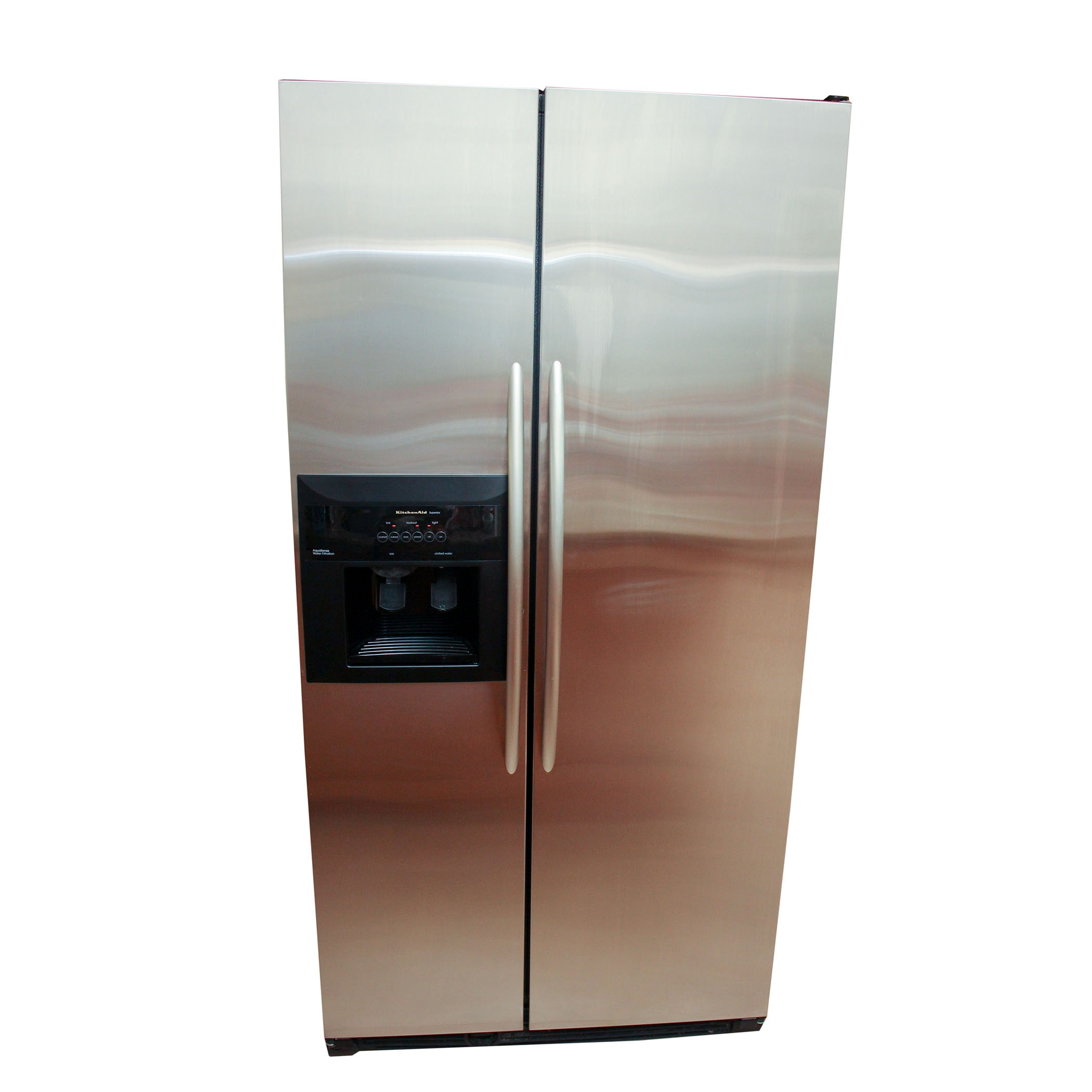 Kitchenaid Refrigerator Superba kitchenaid superba chrome refrigerator : ebth