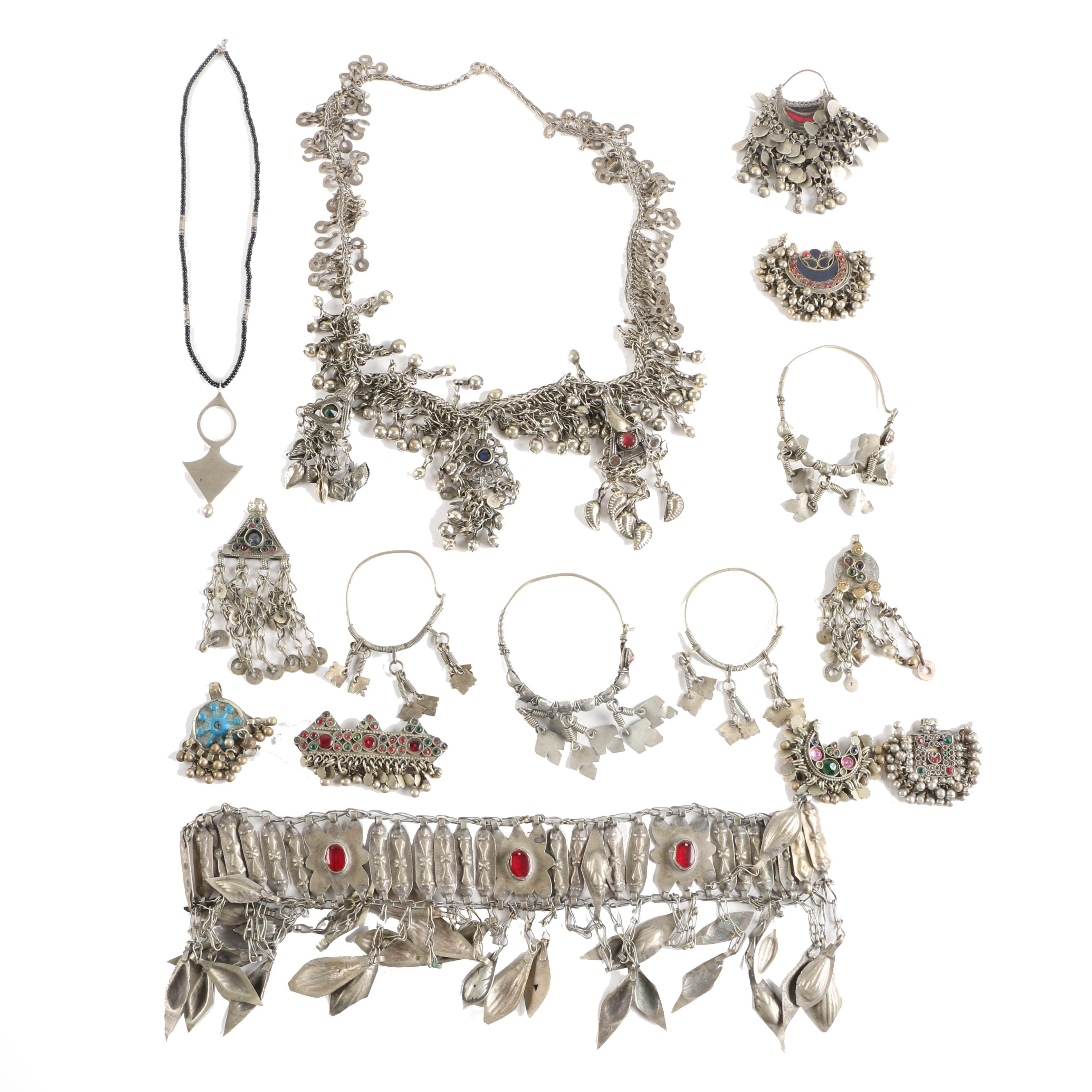 Bedouin Style Jewelry Including Beaded Necklace