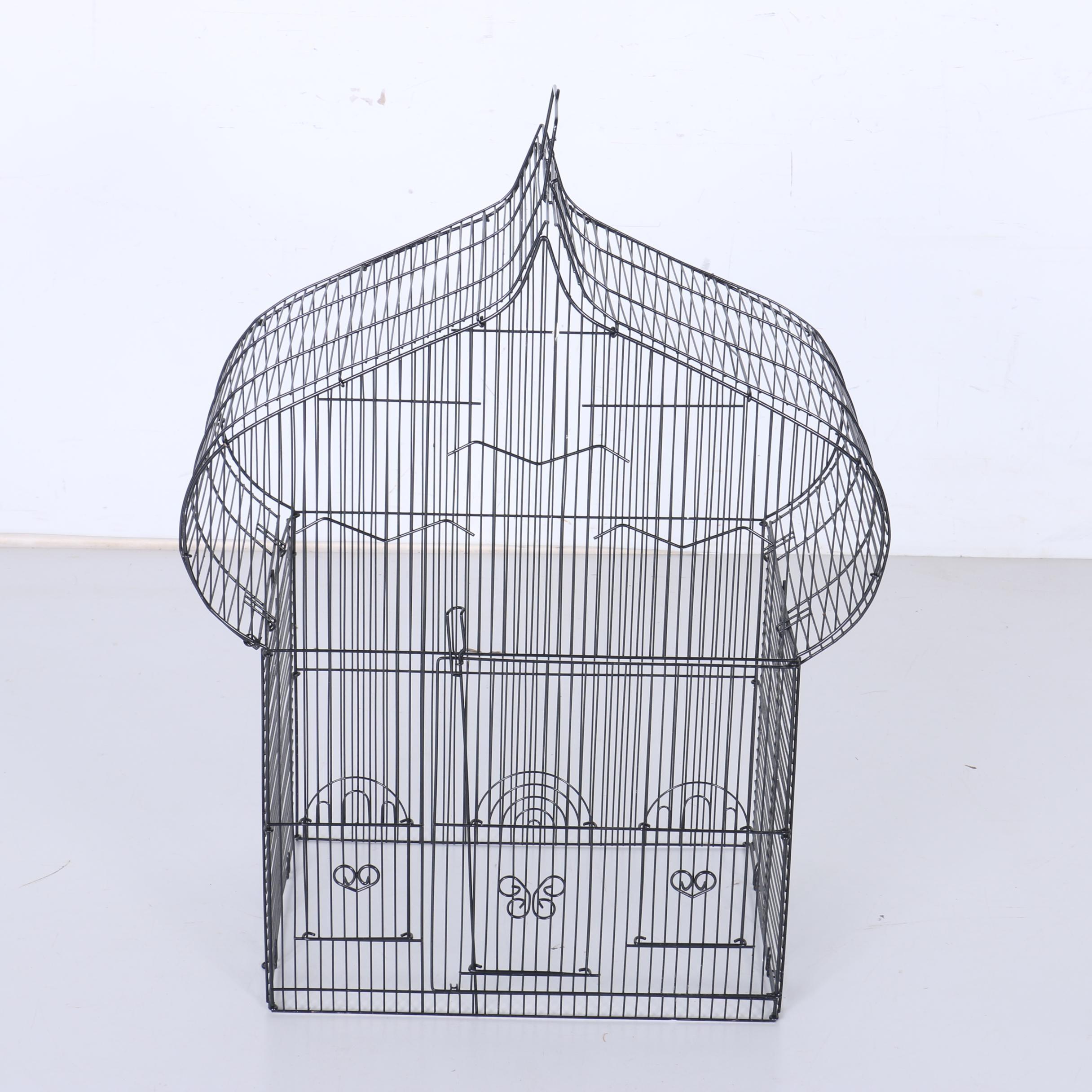 Black Wire Bird Cage