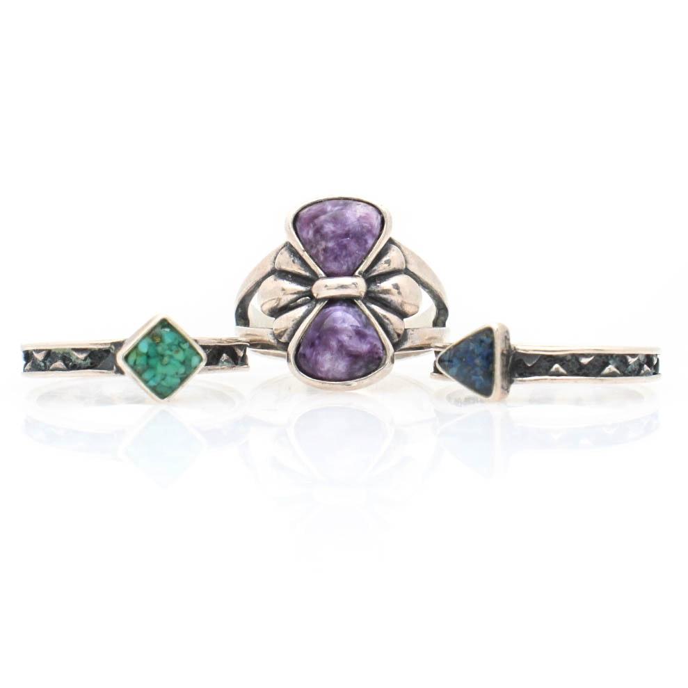 Sterling Silver Imitation Gemstone Rings