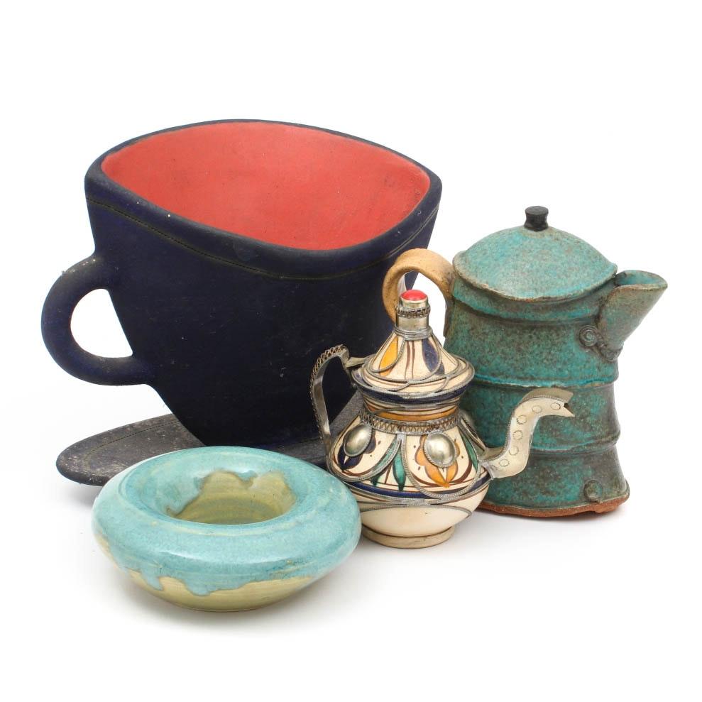 Handmade Pottery Decor and Teapot