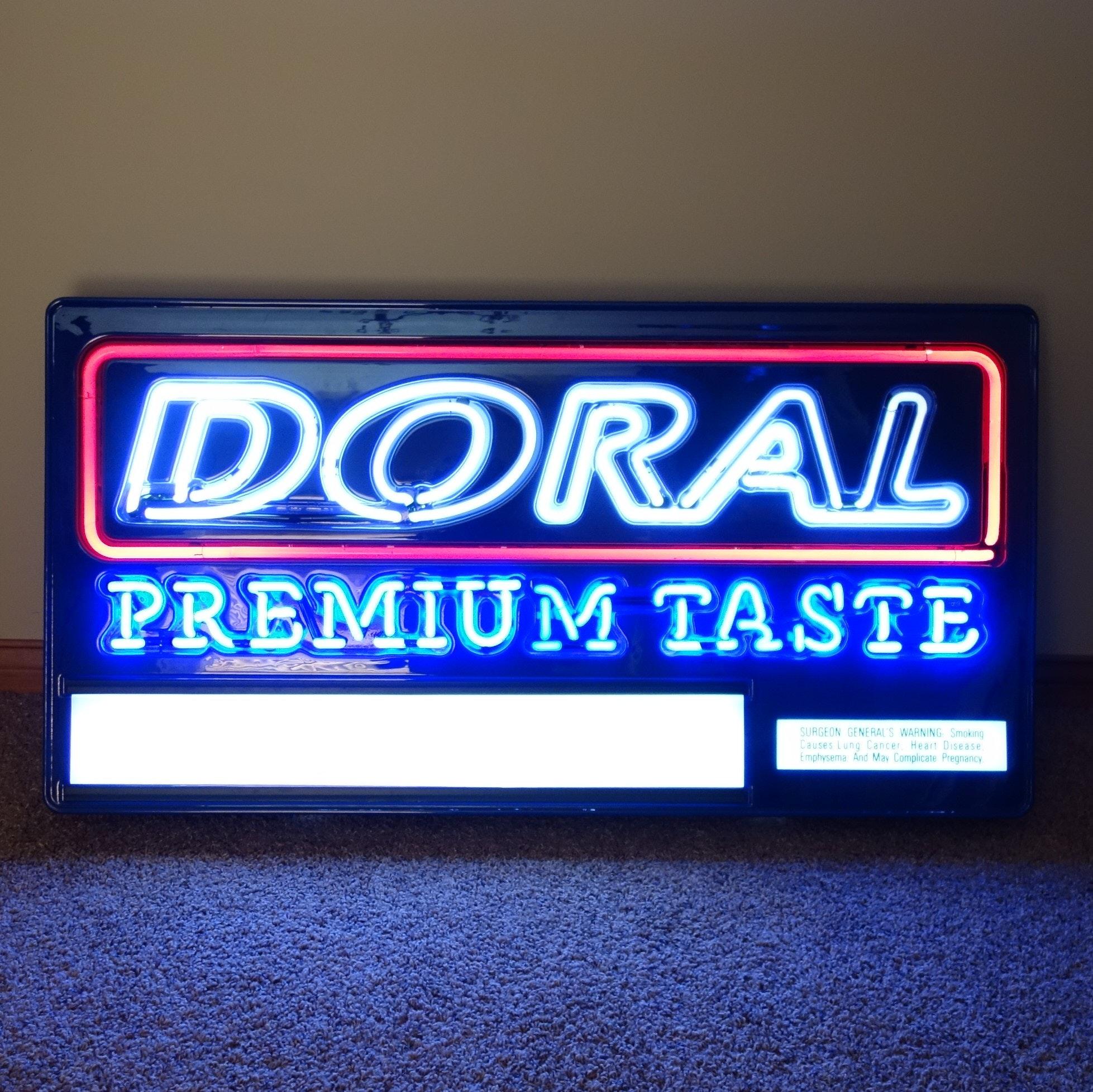 Vintage Doral Cigarette Neon Light