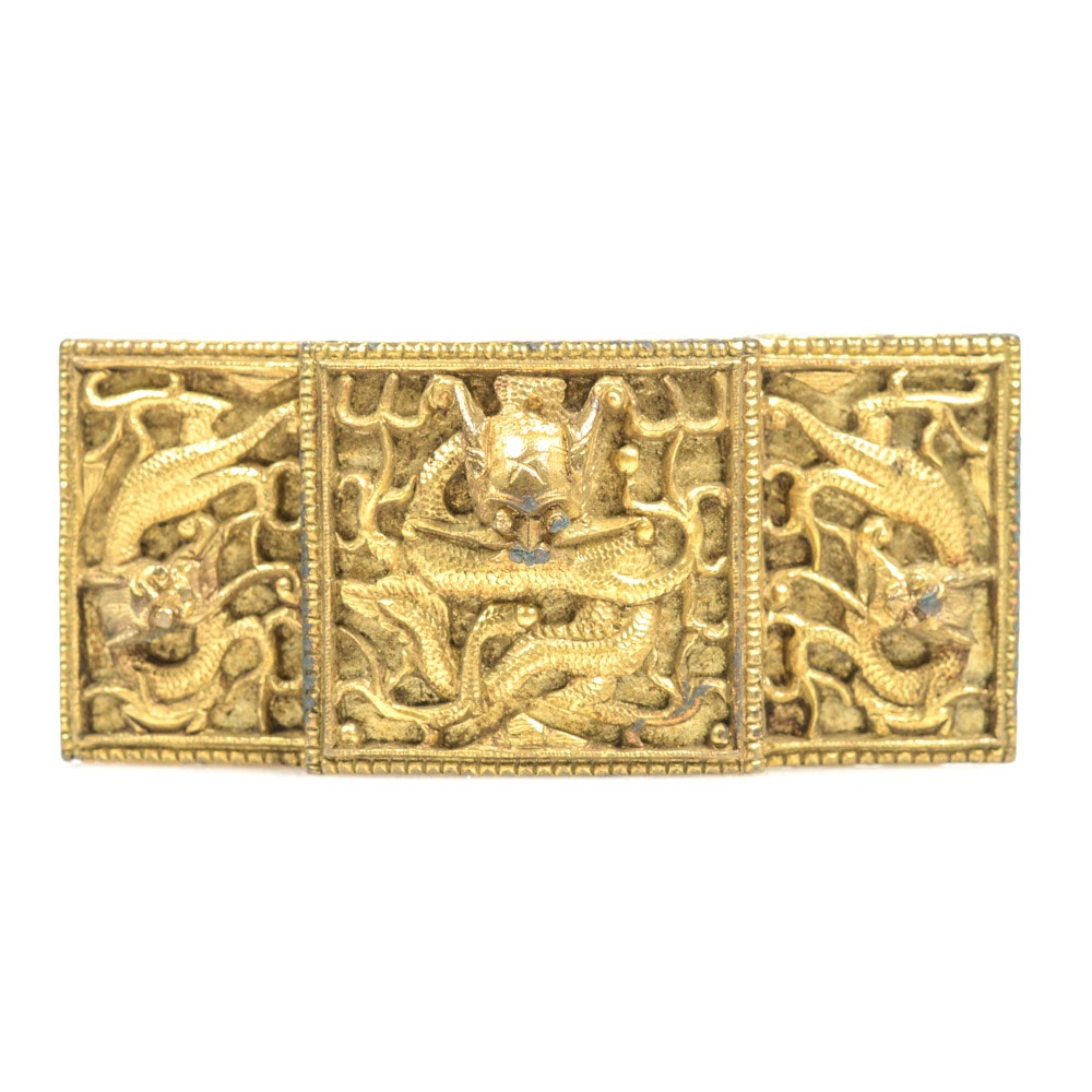 Antique Chinese Brass Belt Buckle