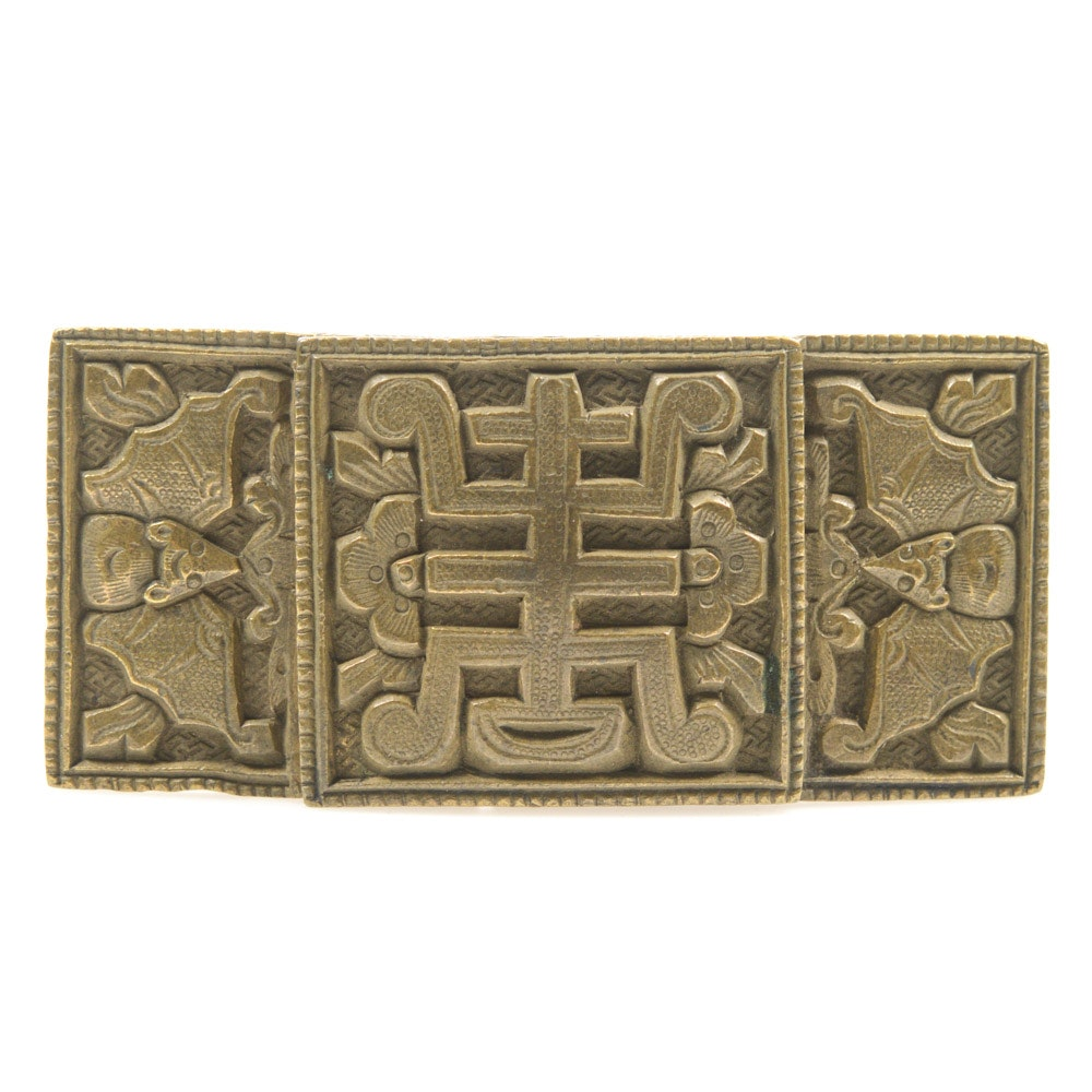 Antique Chinese Brass Buckle