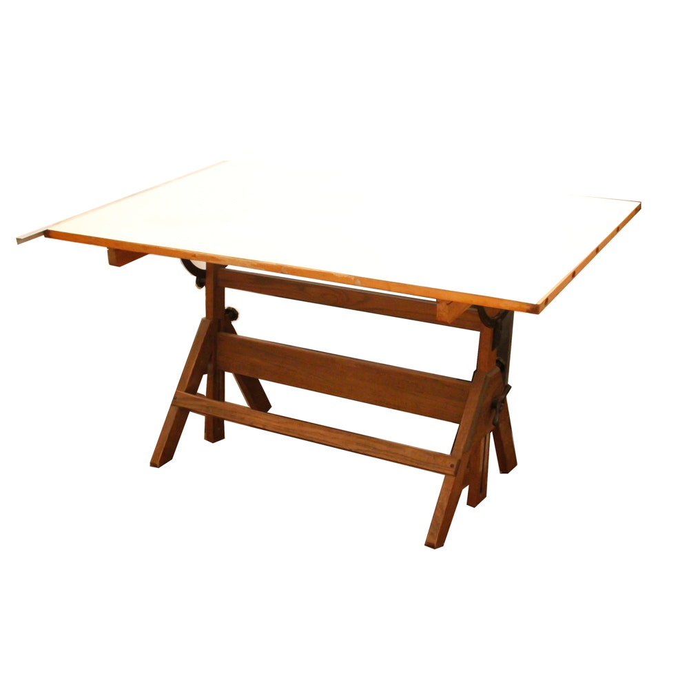 vintage drafting table by charles bruning company