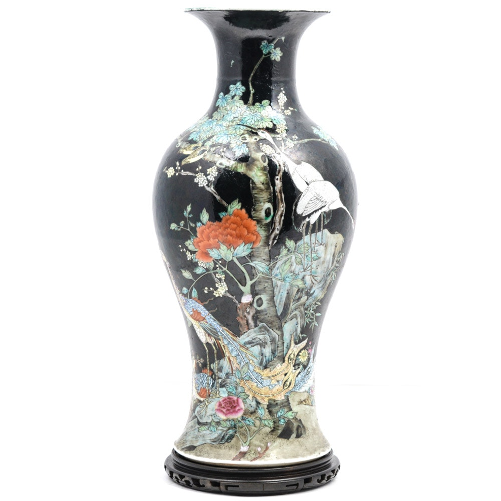 Chinese Late Qing Dynasty Shende Tang Porcelain Vase
