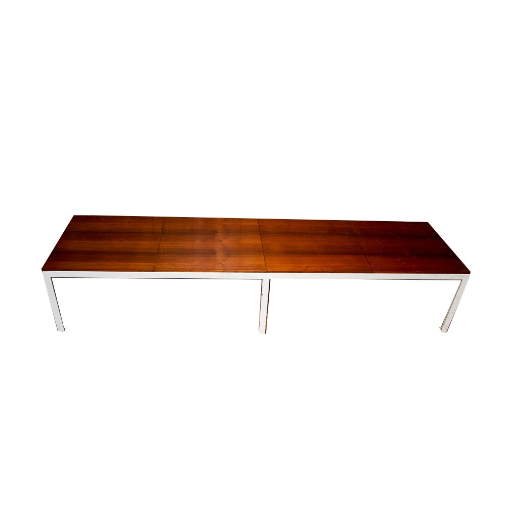 Mid Century Modern Low Console Table/ Bench ...