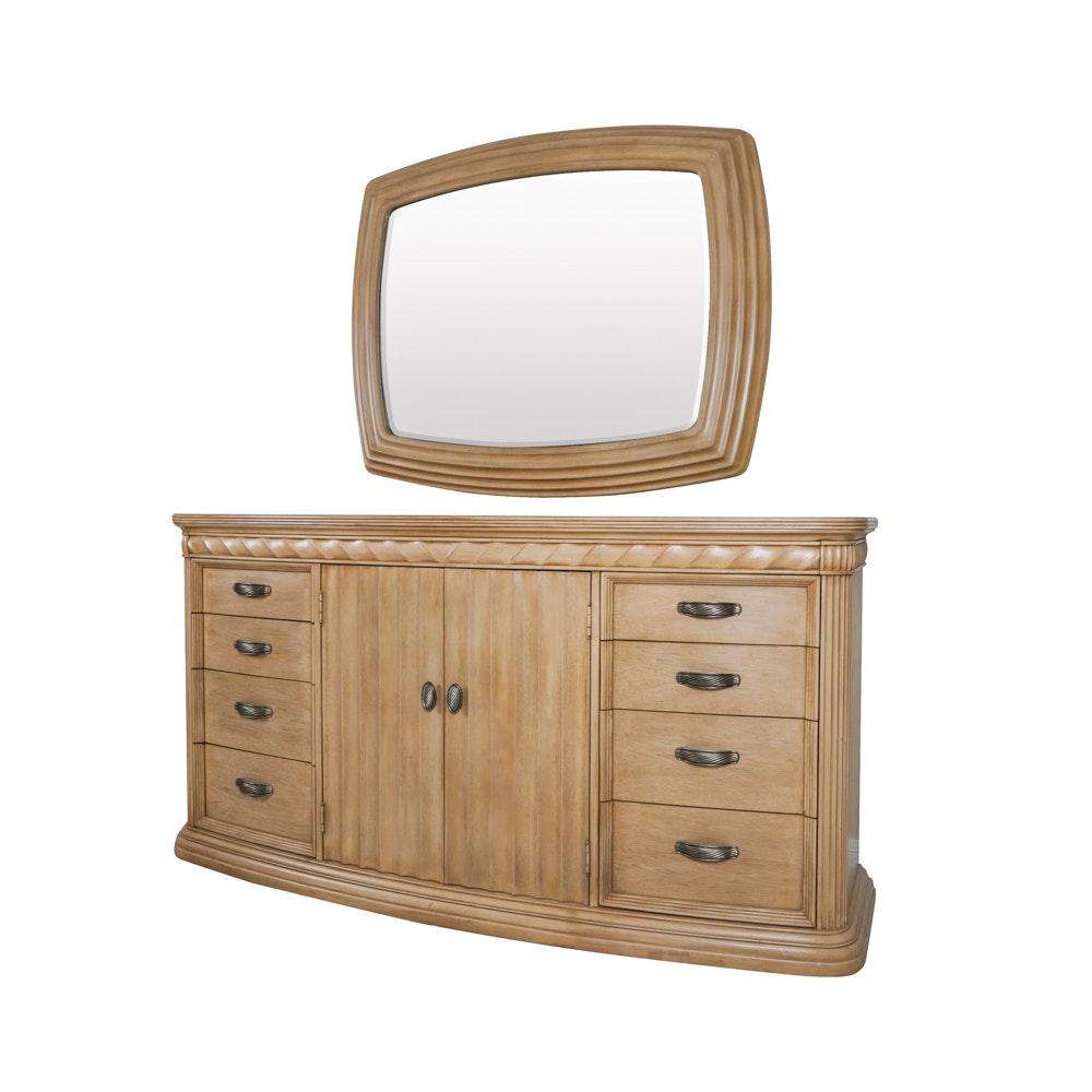 Bernhardt Reeded Edge Dresser and Mirror