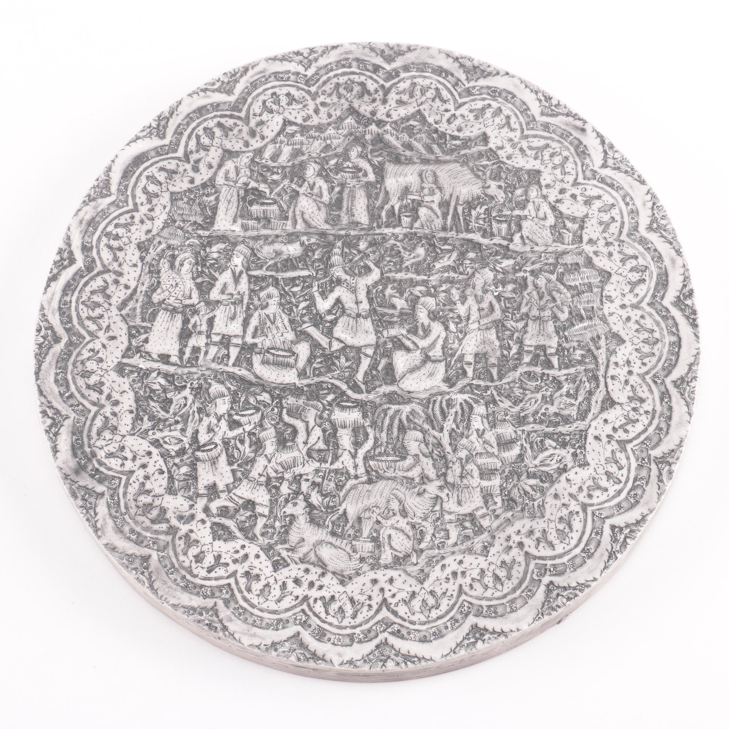 Decorative Round Plaster Persian Reproduction