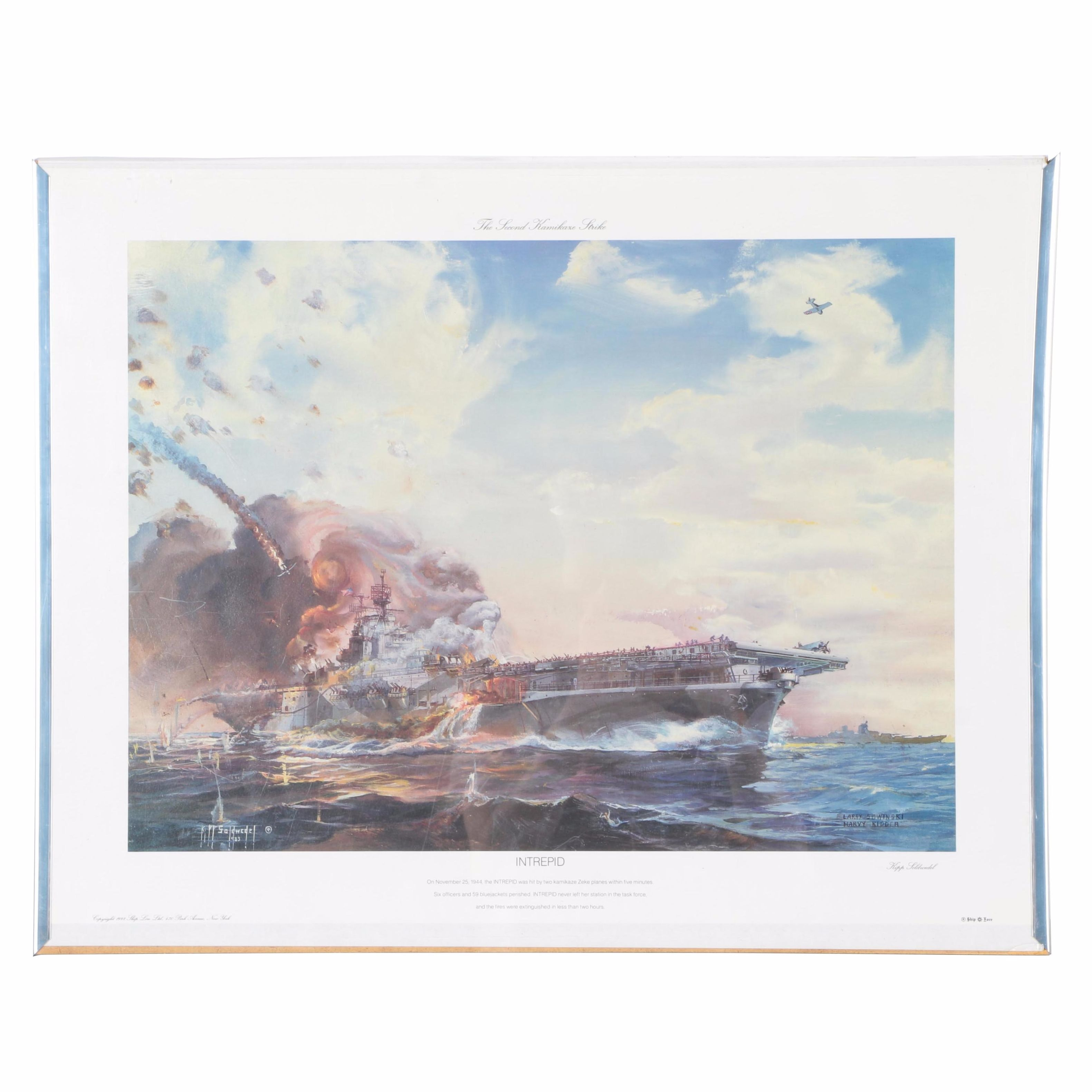 "Kipp Soldwedel Offset Lithograph Print ""Intrepid"""