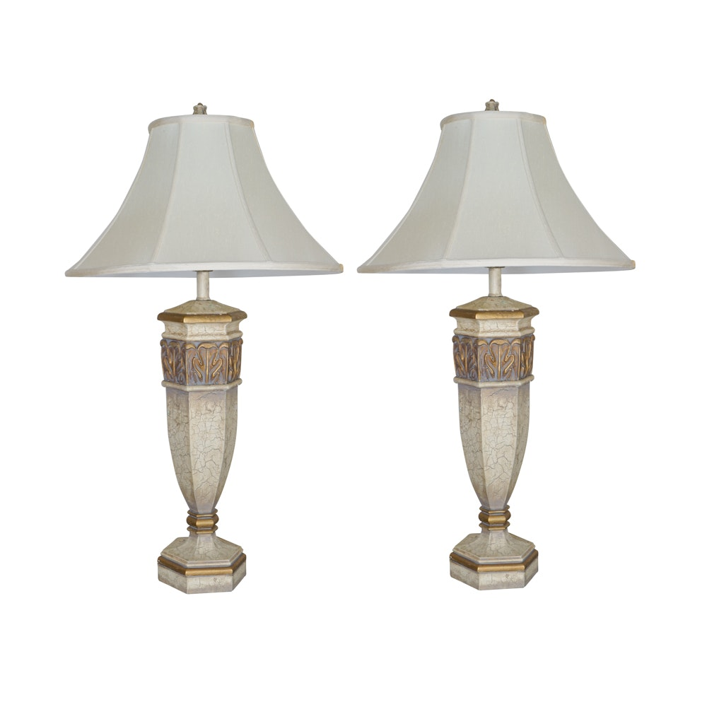 Pair of Fine Arts Lamps Tuscan Villa Table Lamps