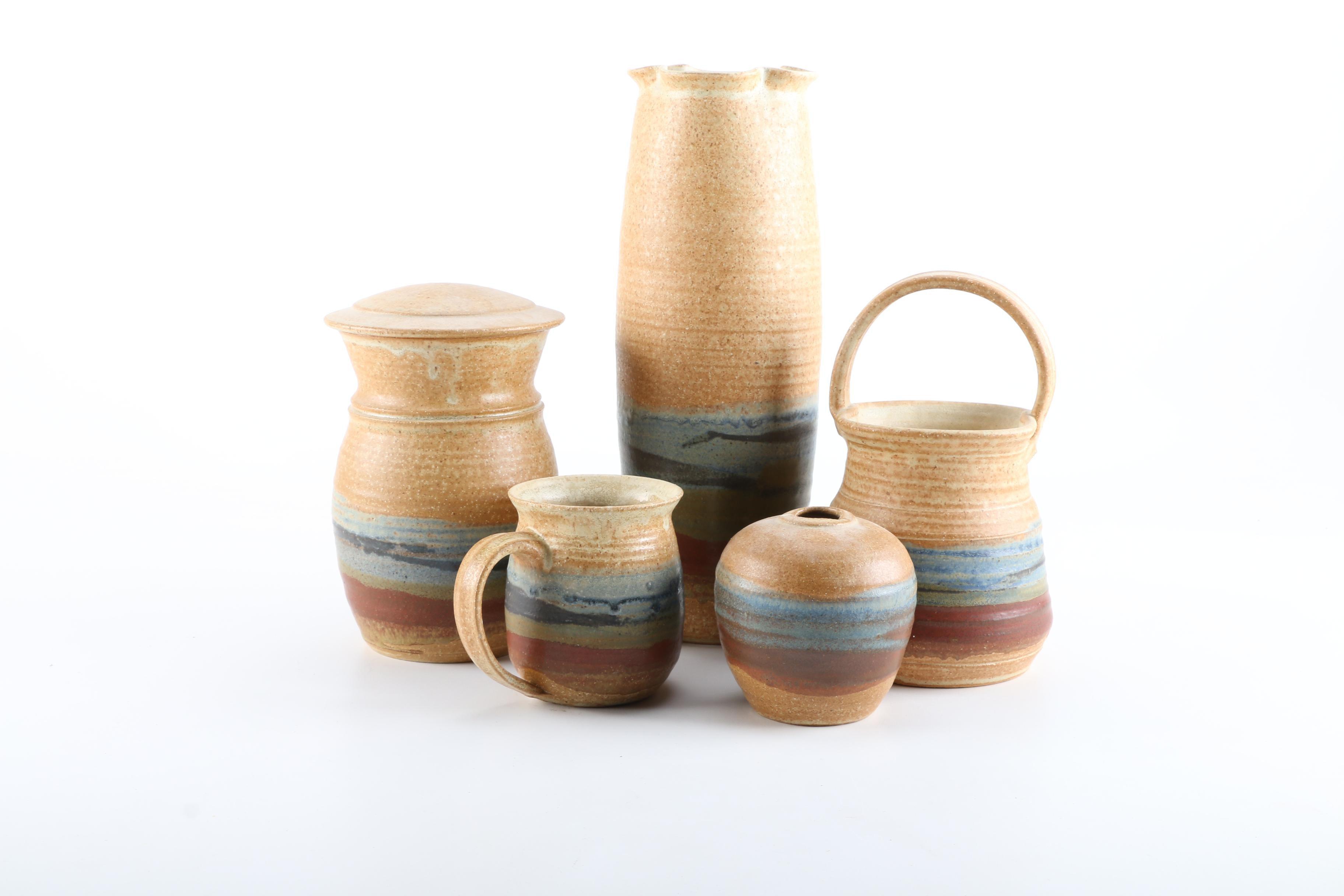 Five Stoneware Pieces