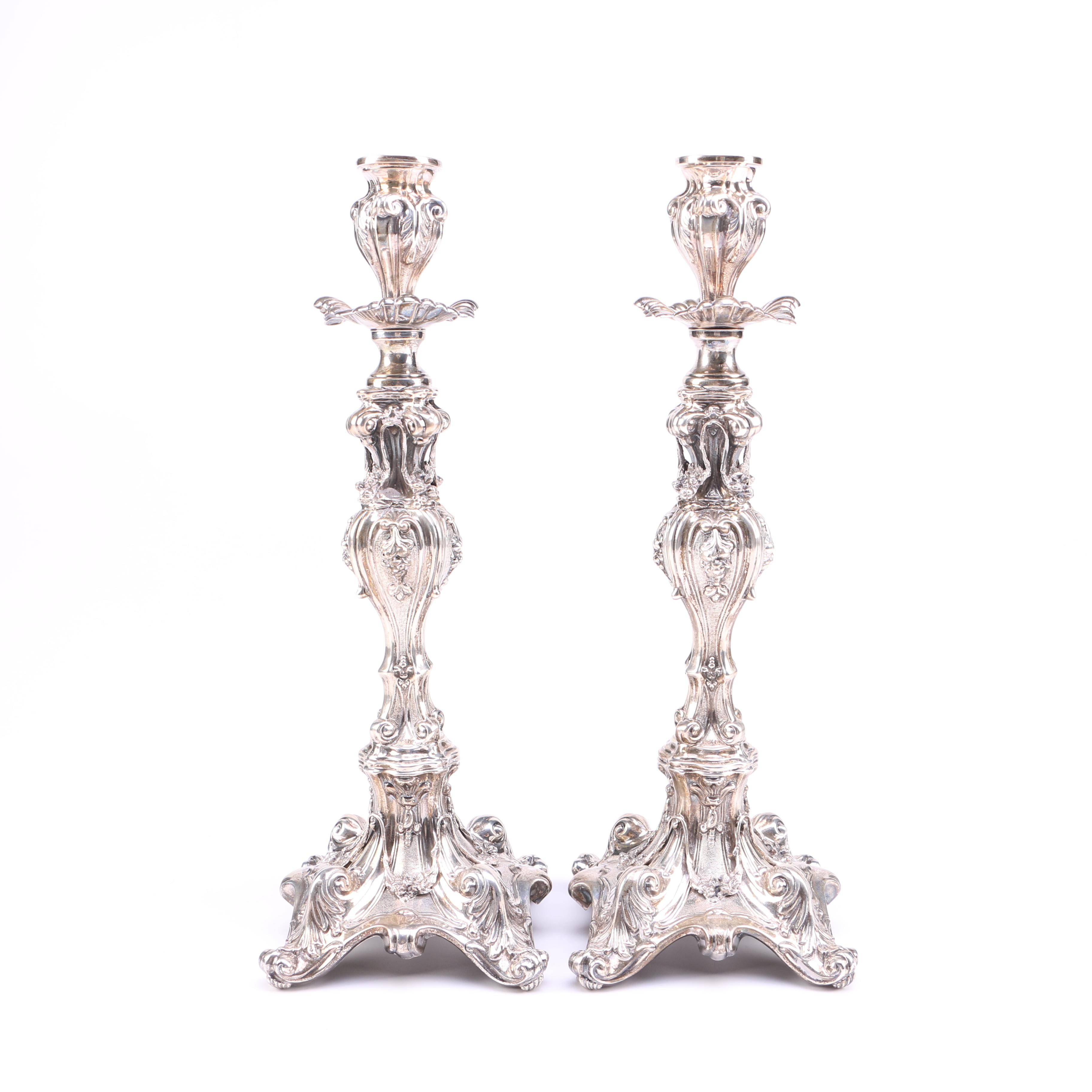 HaZorfim Weighted Sterling Silver Candlestick Holders