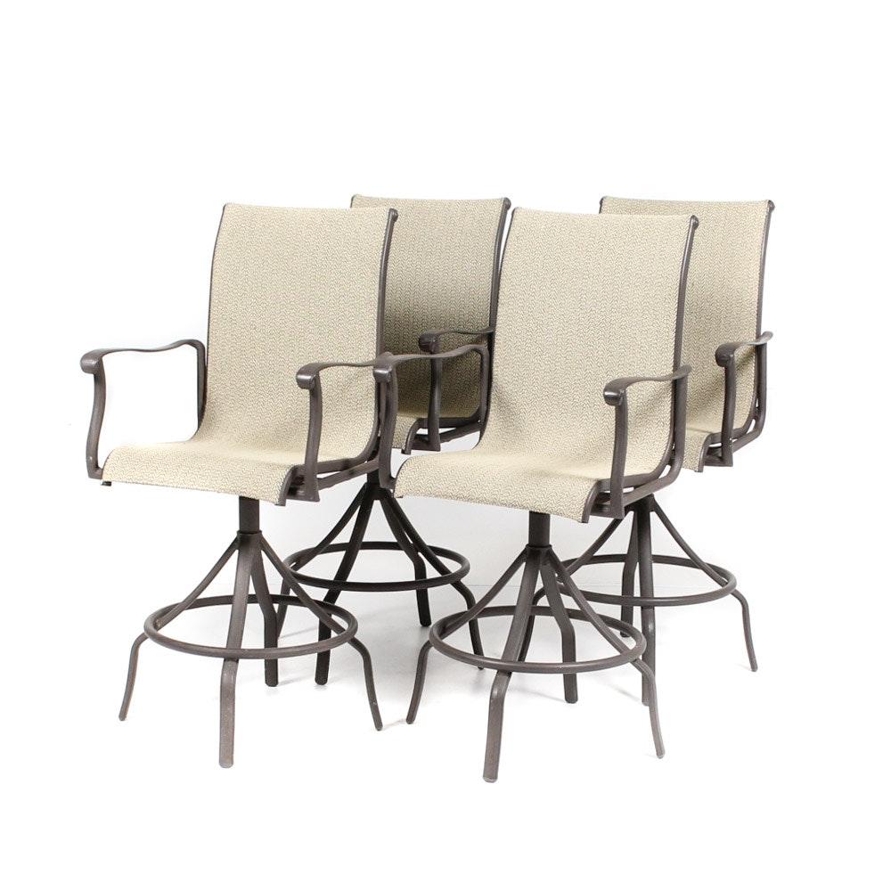 Set of Steel Swivel Patio Chairs