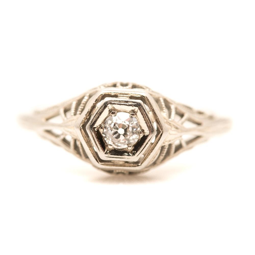 18K Old European Cut Diamond Ring