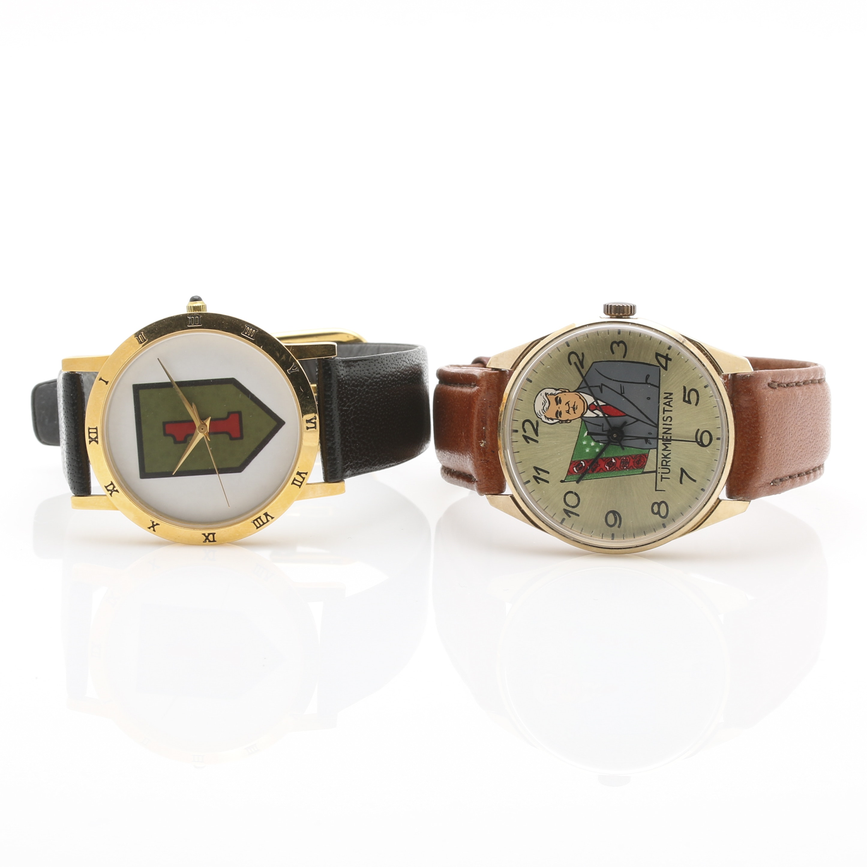 Watches Picturing the US First Infantry Division and Turkmenistan President Saparmurat Niyazov