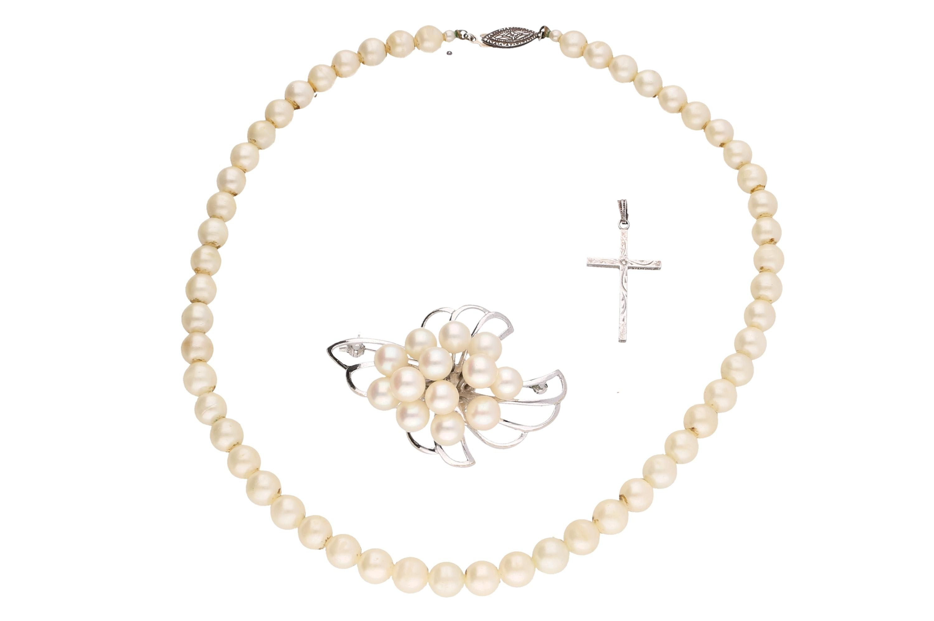 Sterling Silver Cultured and Faux Pearl Jewelry
