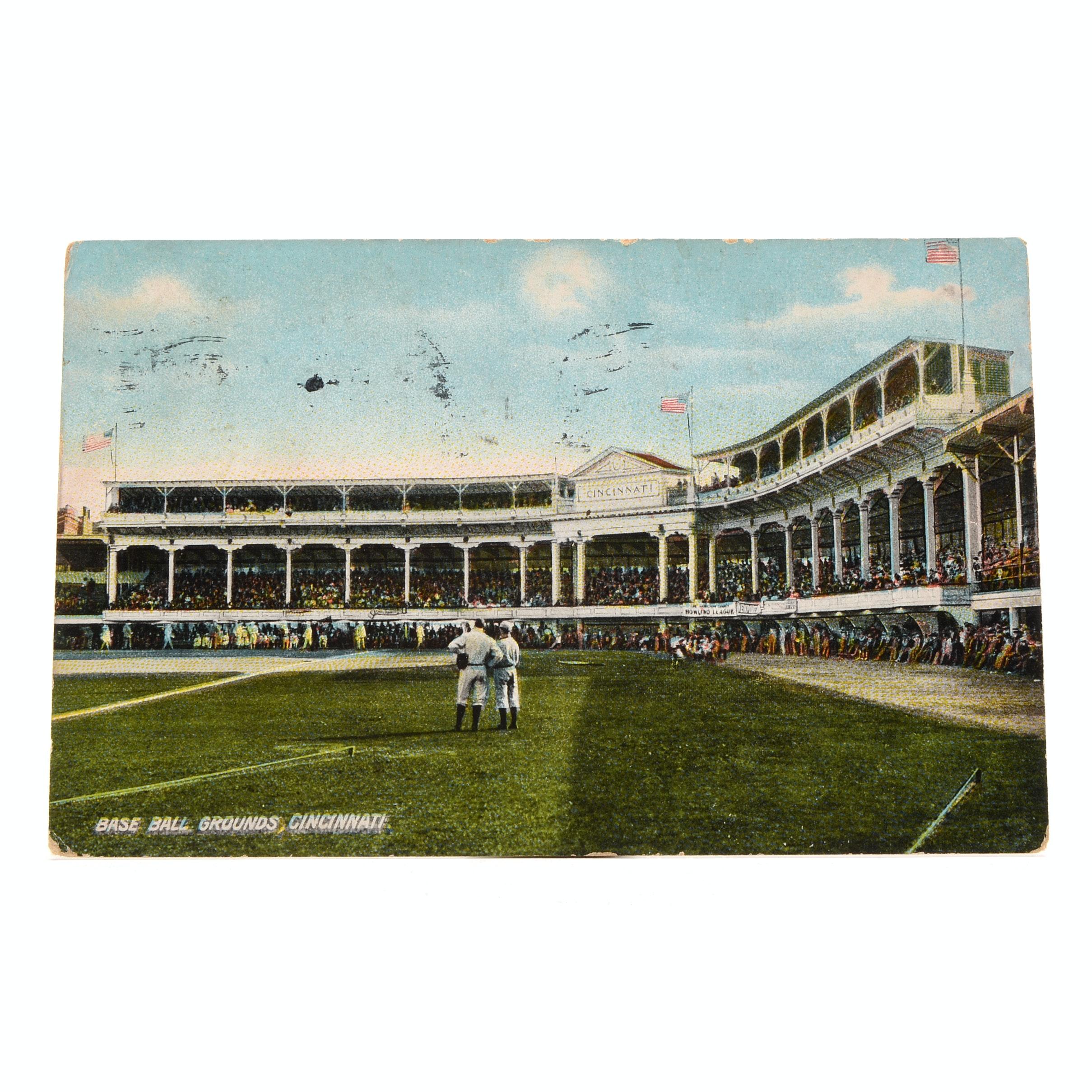 1910 Palace Of The Fans Cincinnati Reds Postcard Ebth