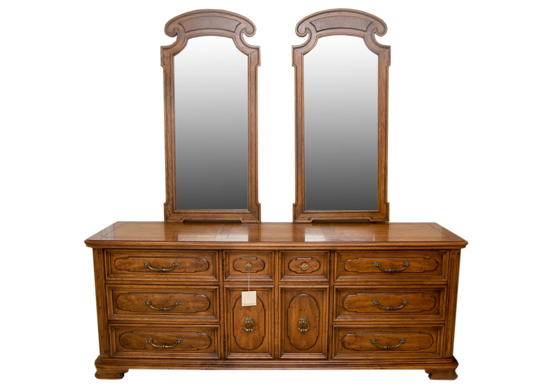 Vintage Dresser With Mirrors by Henredon