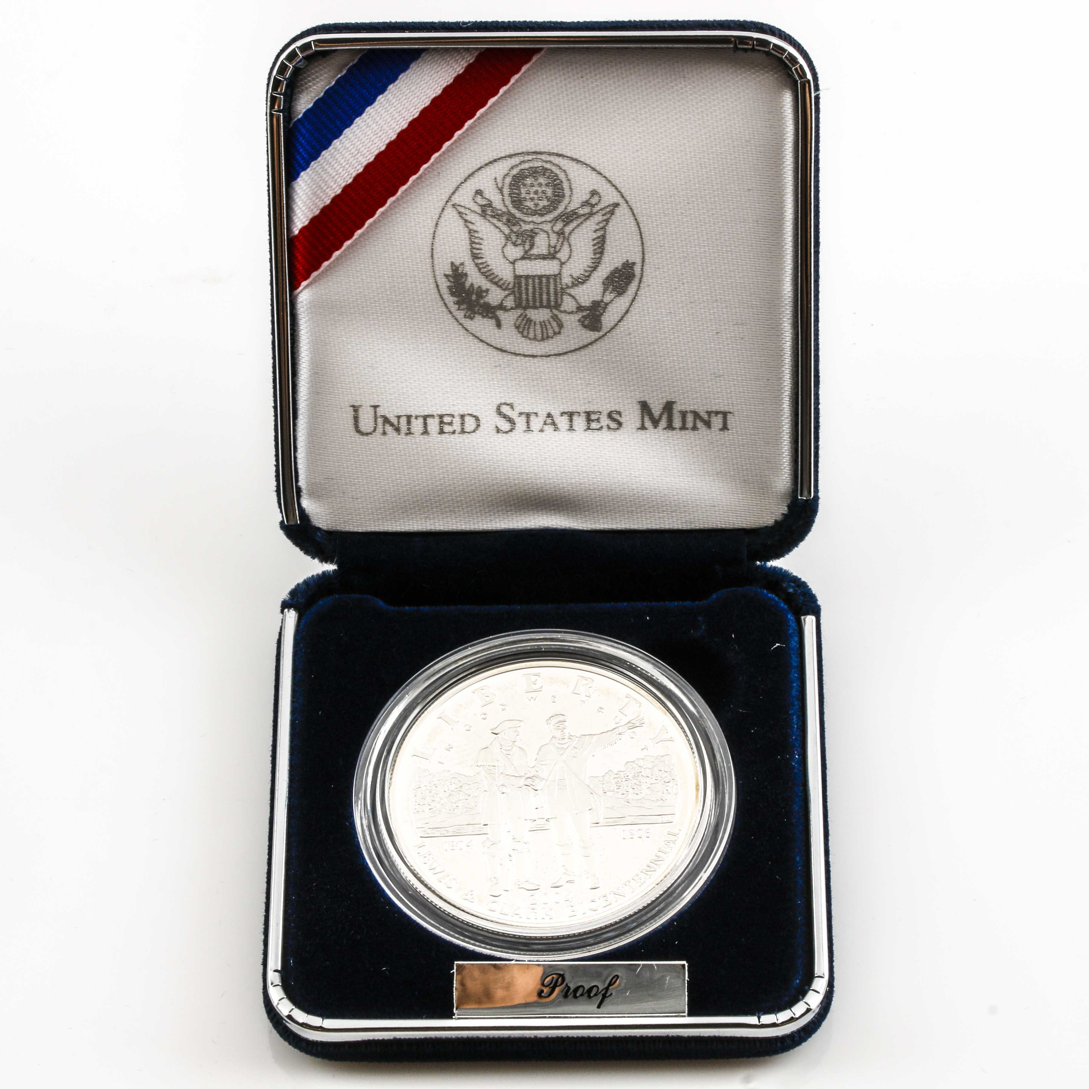 2004 P Lewis & Clark Commemorative Silver Dollar Proof Coin